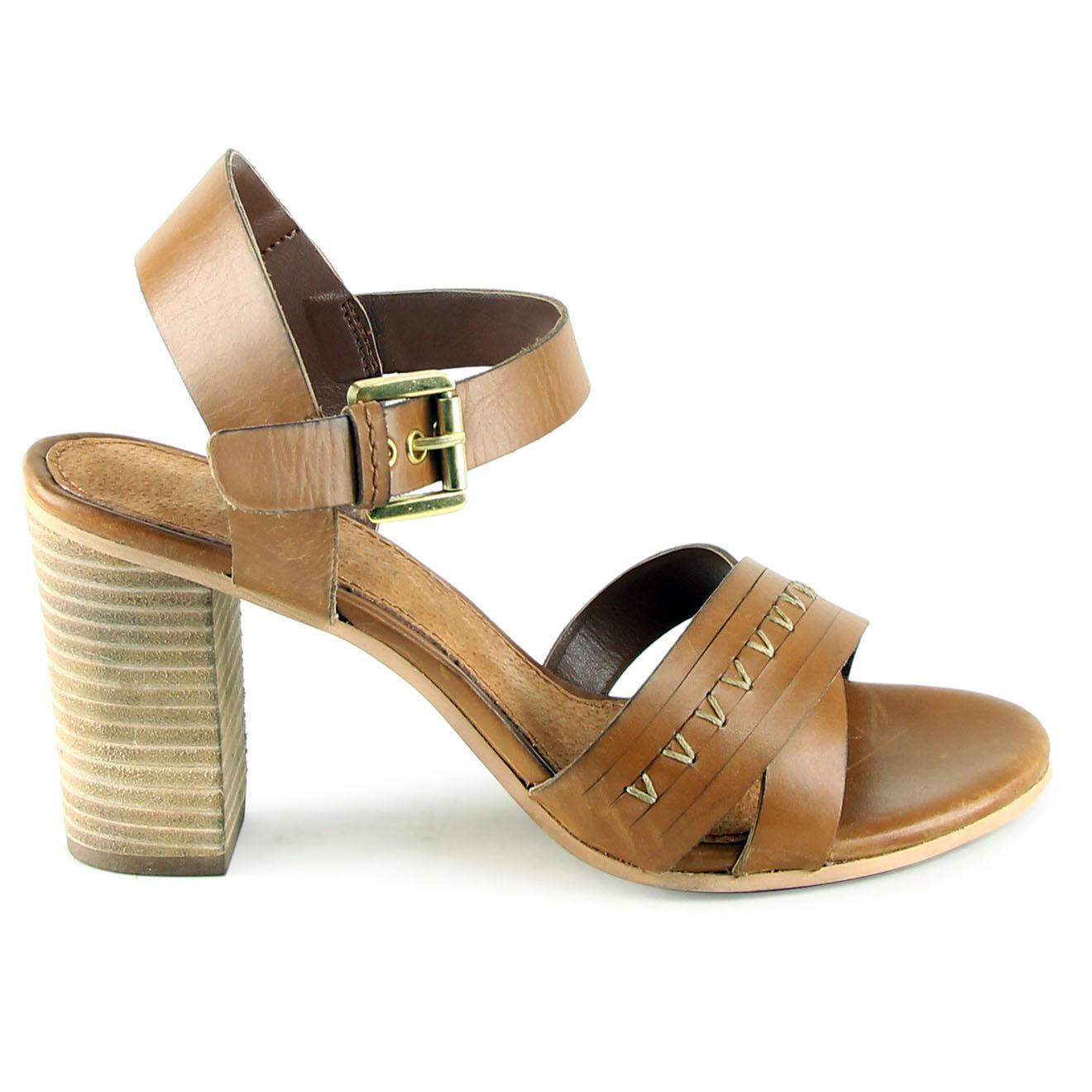 Sandales en Cuir Camille camel Talon 8.5 cm