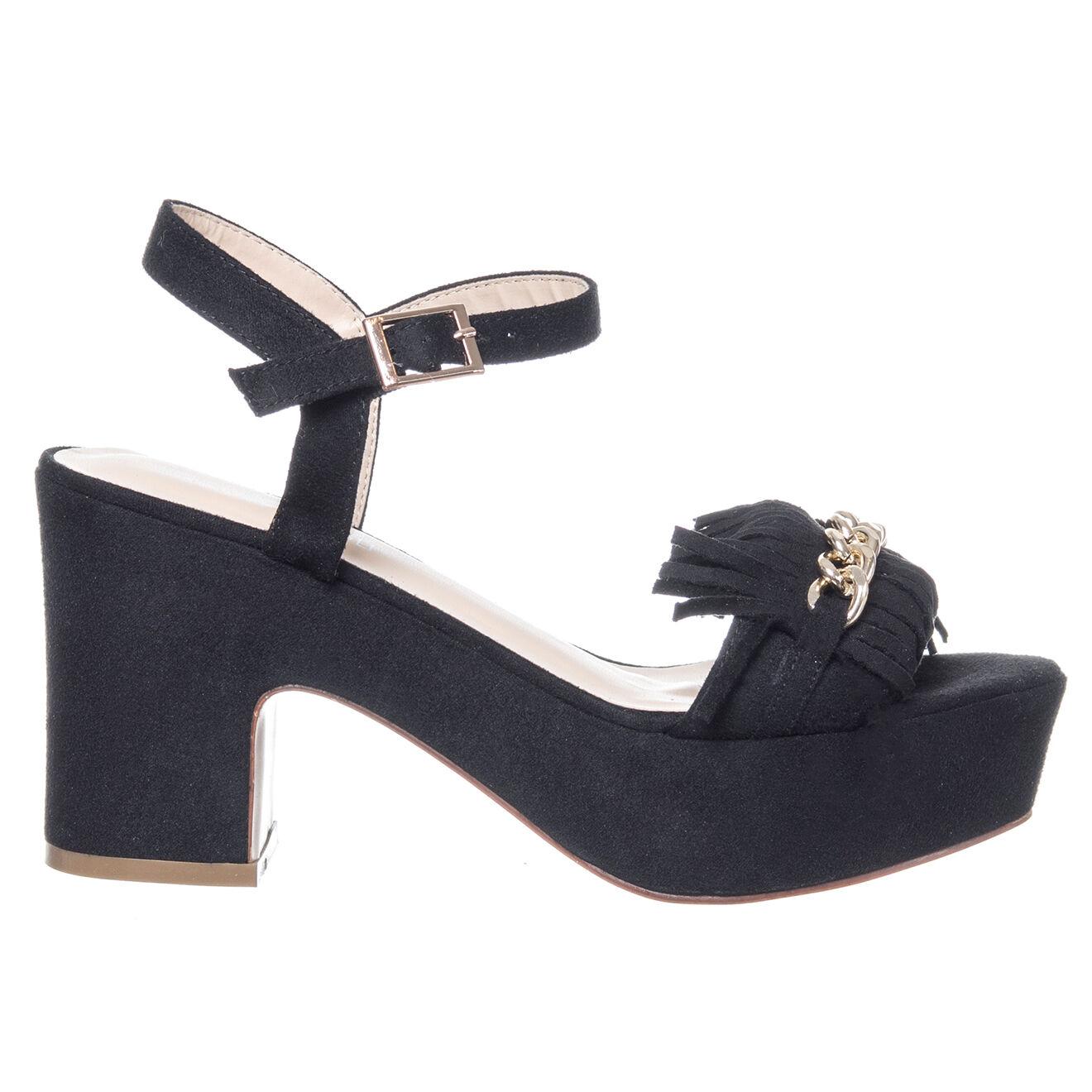 Sandales Elsa noires - Talon 9 cm