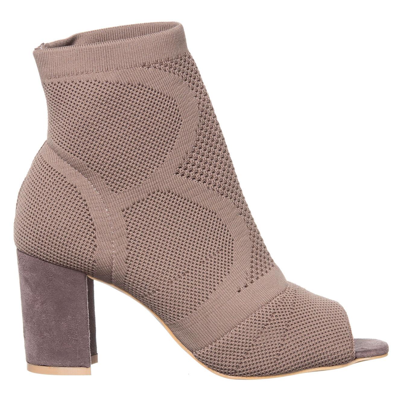 Boots Eleonora taupe - Talon 8 cm