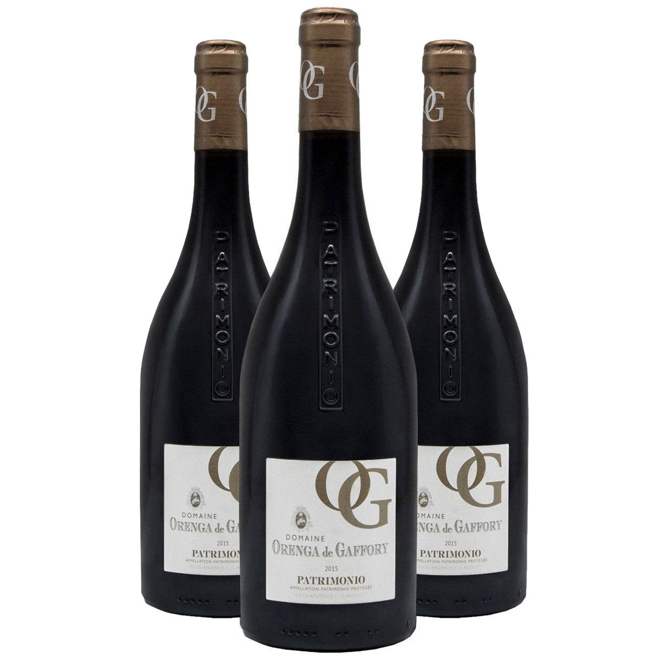 3 Patrimonio Rouge 2015 Orenga de Gaffory 75cl