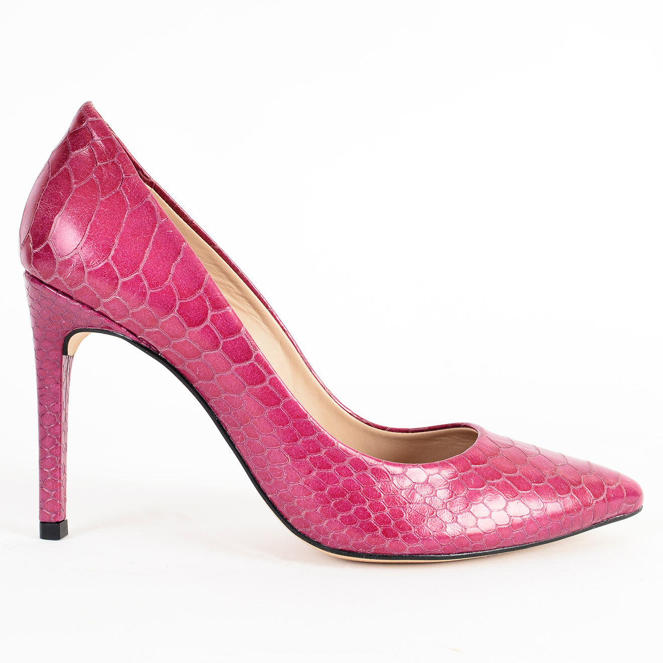 Escarpins en Cuir Serena roses - Talon 8.5 cm