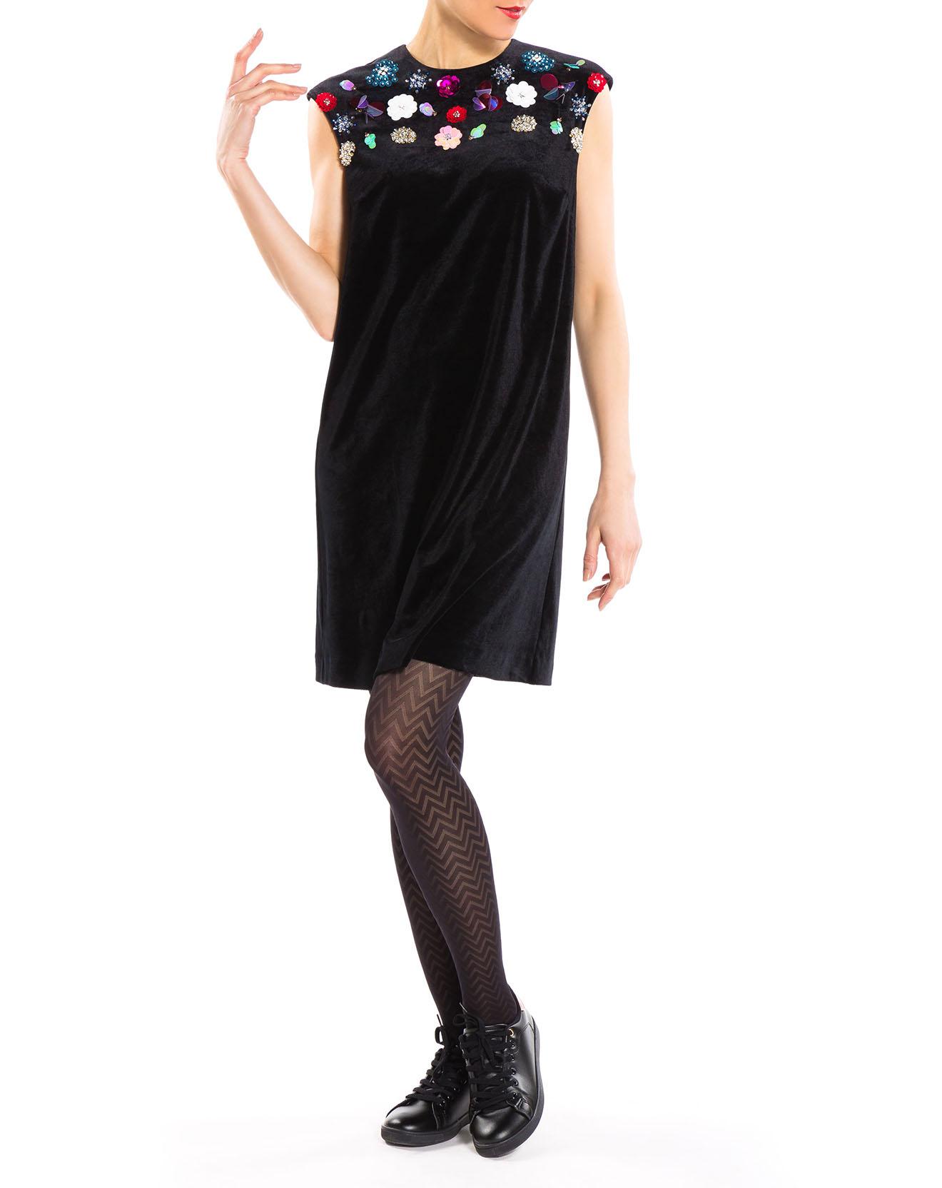Robe Banc en velours noire - Derhy - Modalova
