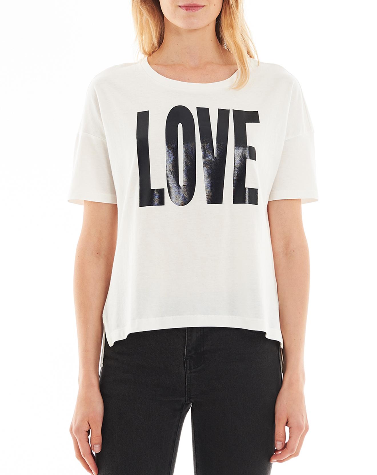 T-Shirt Love en Coton blanc - Esprit - Modalova