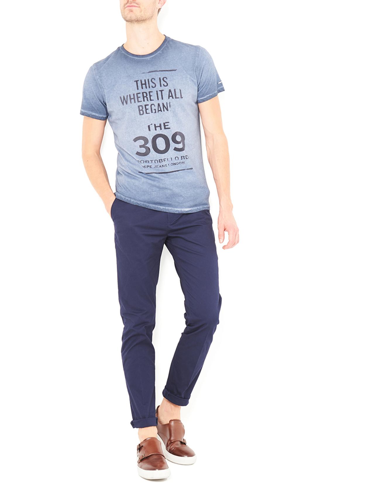 T-Shirt Brick délavé bleu - Pepe Jeans - Modalova