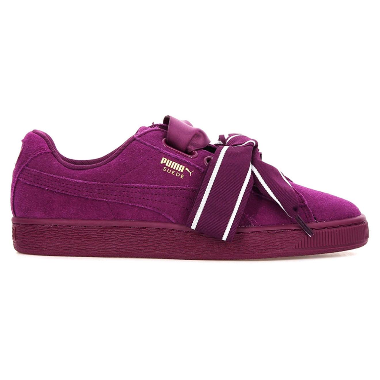 Baskets en Velours de Cuir Heart Satin II Wn's violettes - Puma - Modalova
