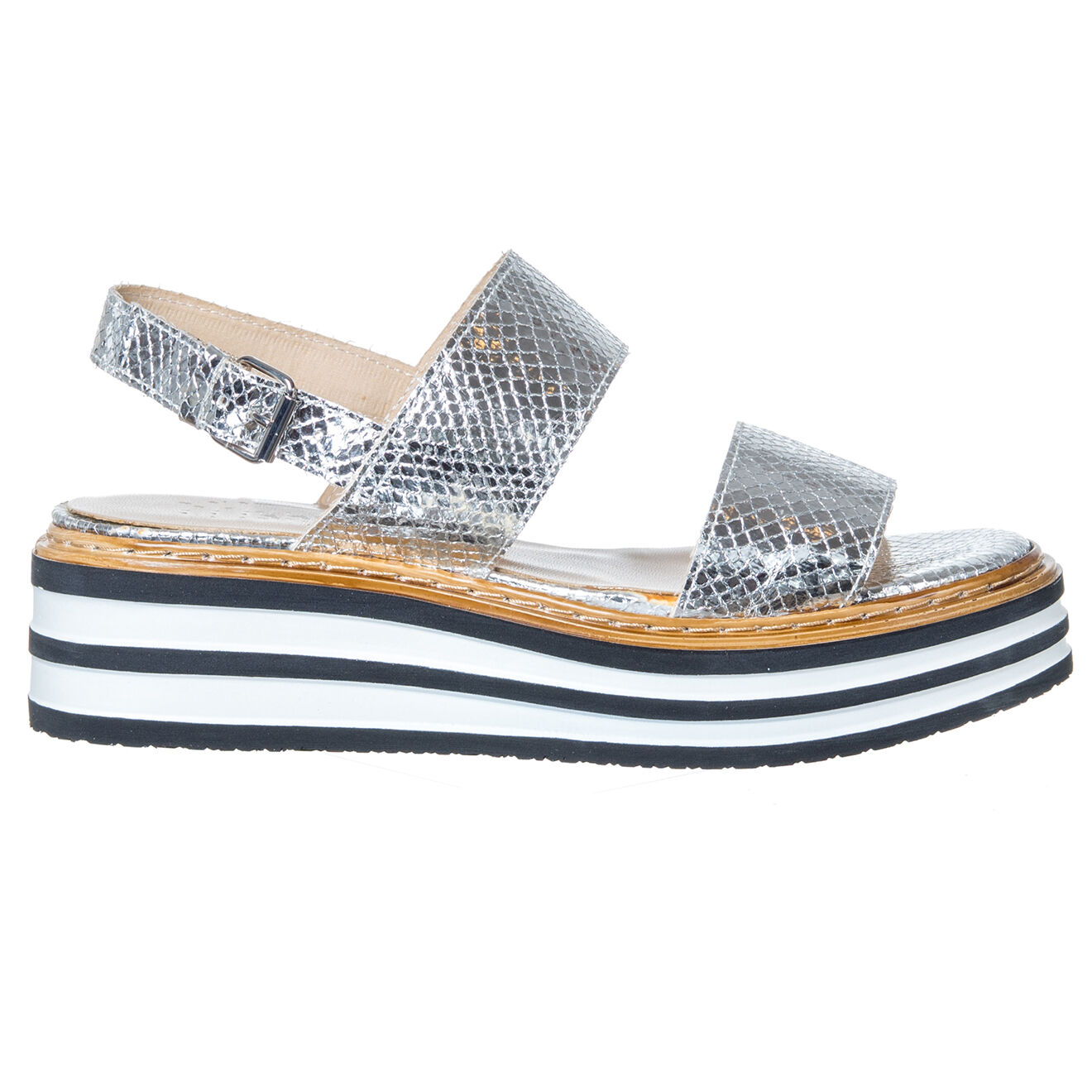 Sandales en Cuir Pauline argentées