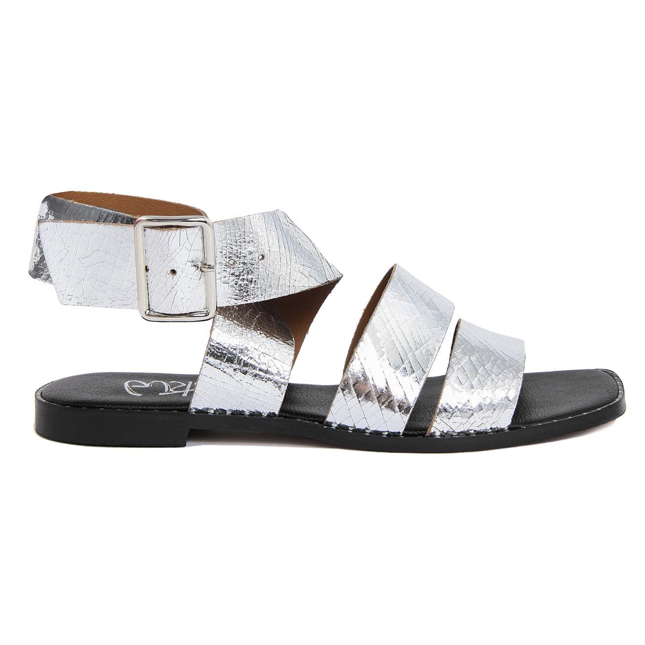 Sandales en Cuir Giorgia argentées