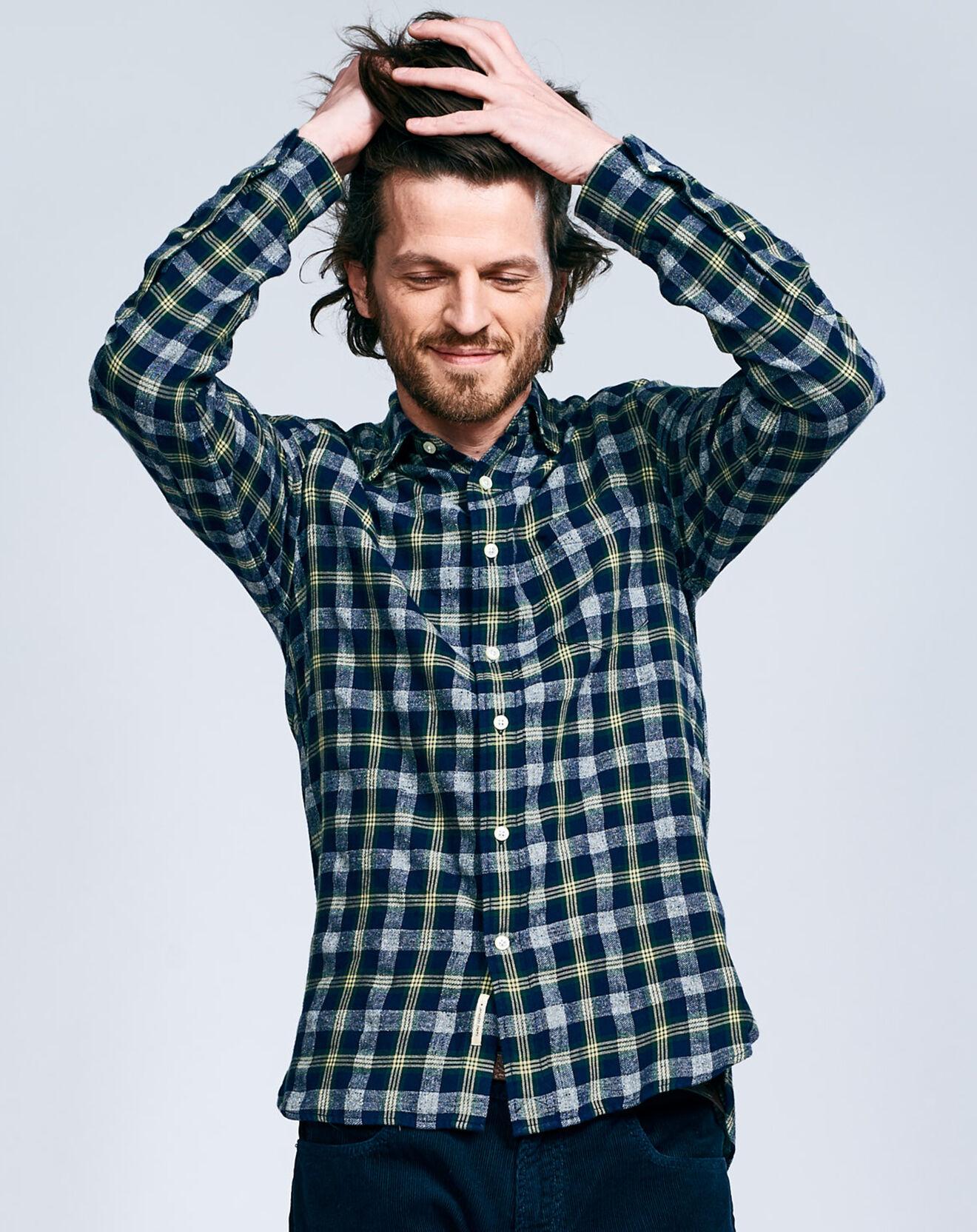 Chemise Glenh à carreaux bleu/vert