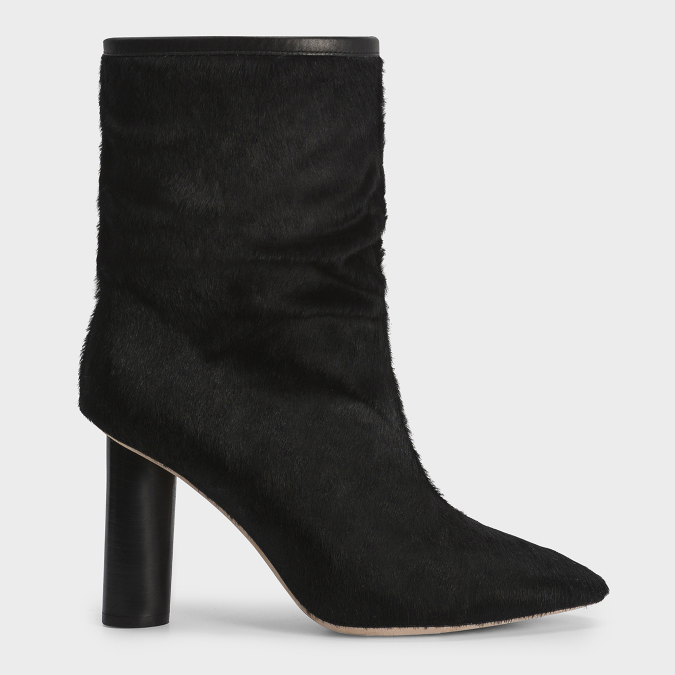 Boots en Cuir de Veau Sokany noires - Talon 8 cm - Iro - Modalova