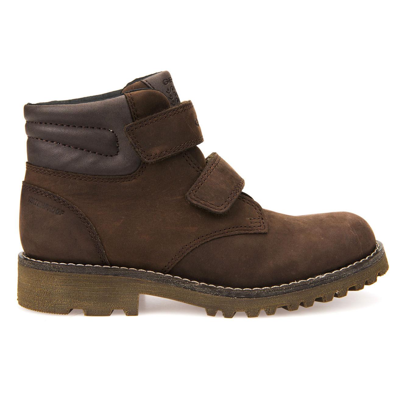 Boots en Velours de Cuir Axel café - Geox - Modalova