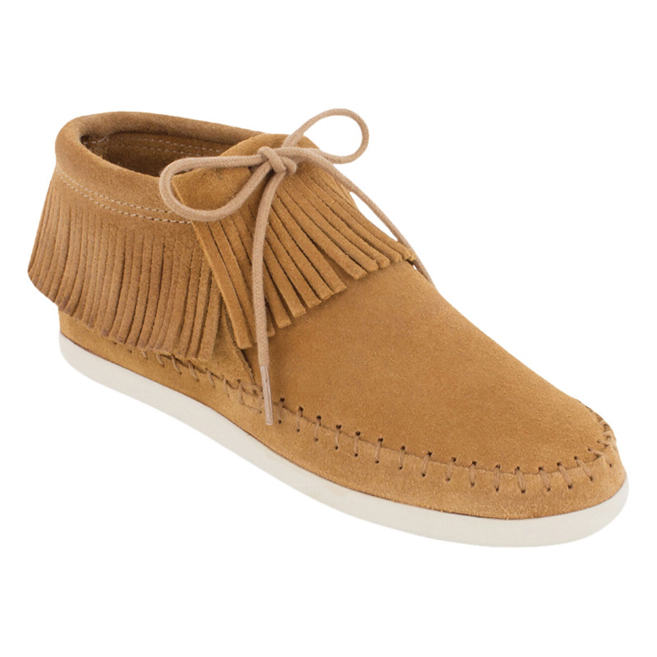 Boots en Velours de Cuir Venice taupe - Minnetonka - Modalova