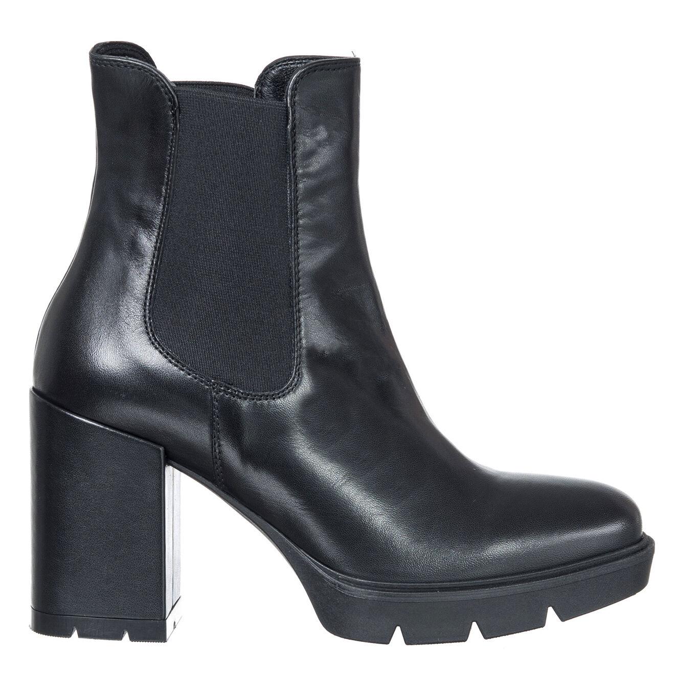 Chelsea boots en Cuir Inna noires - Talon 8 cm