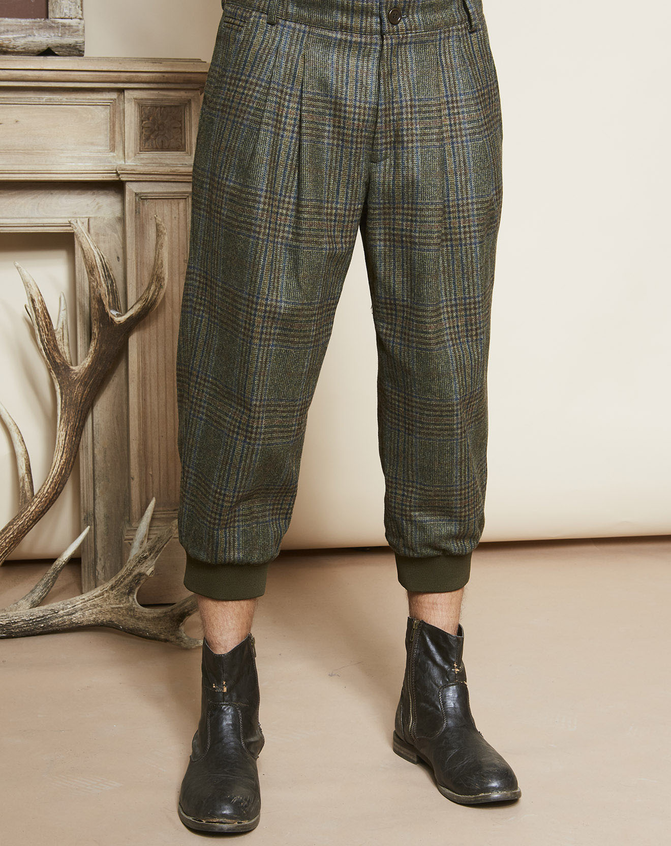 Pantalon en Laine & Cachemire St James Breeks vert