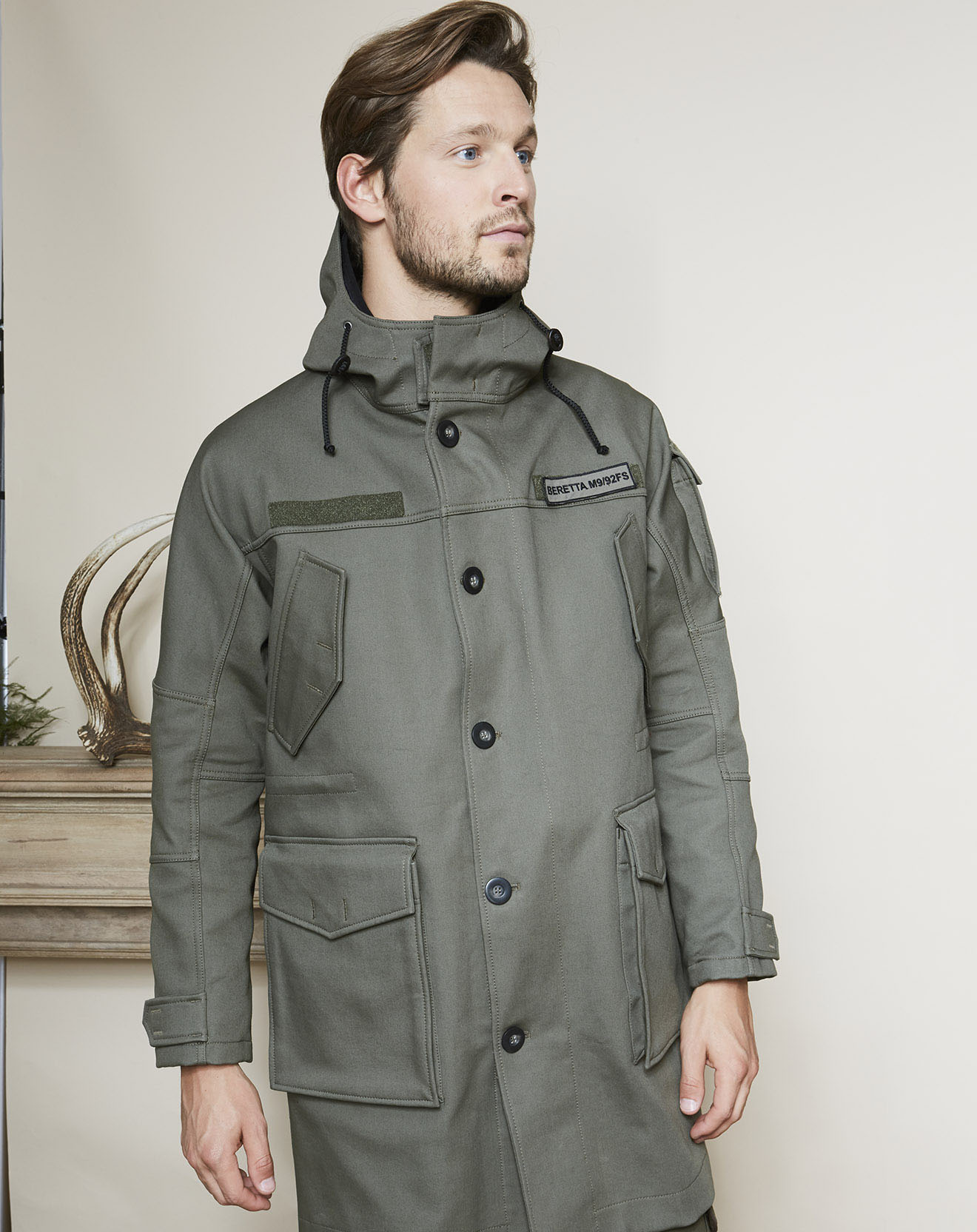 Manteau Hop Military 3 in 1 vert olive