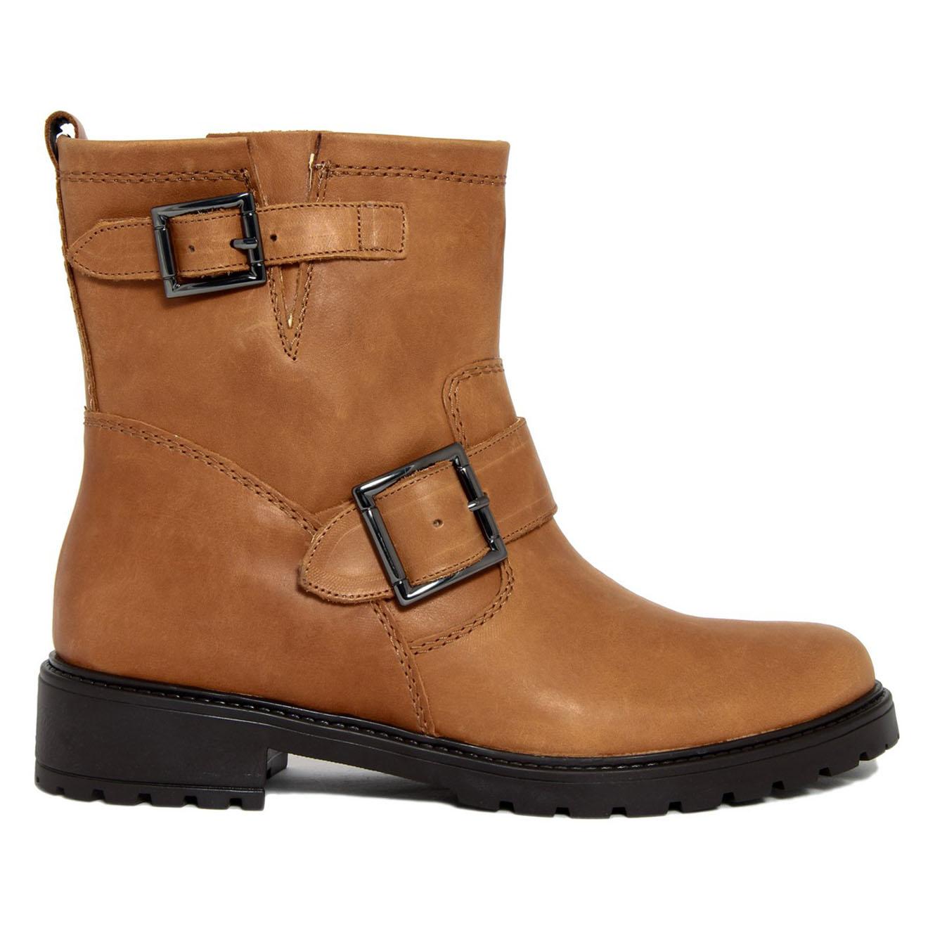 Boots en Cuir Laurie camel