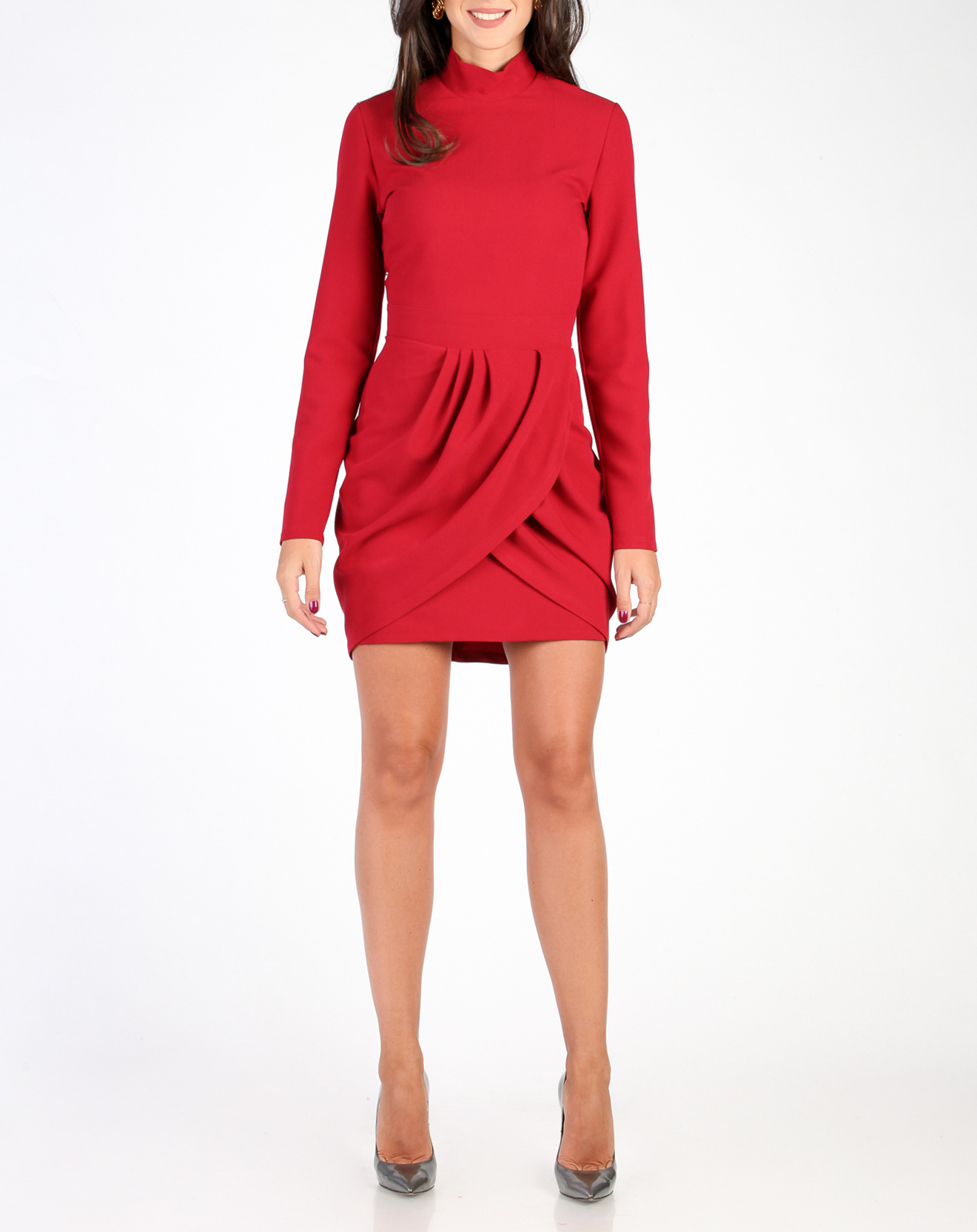 Robe plissée Jade rouge
