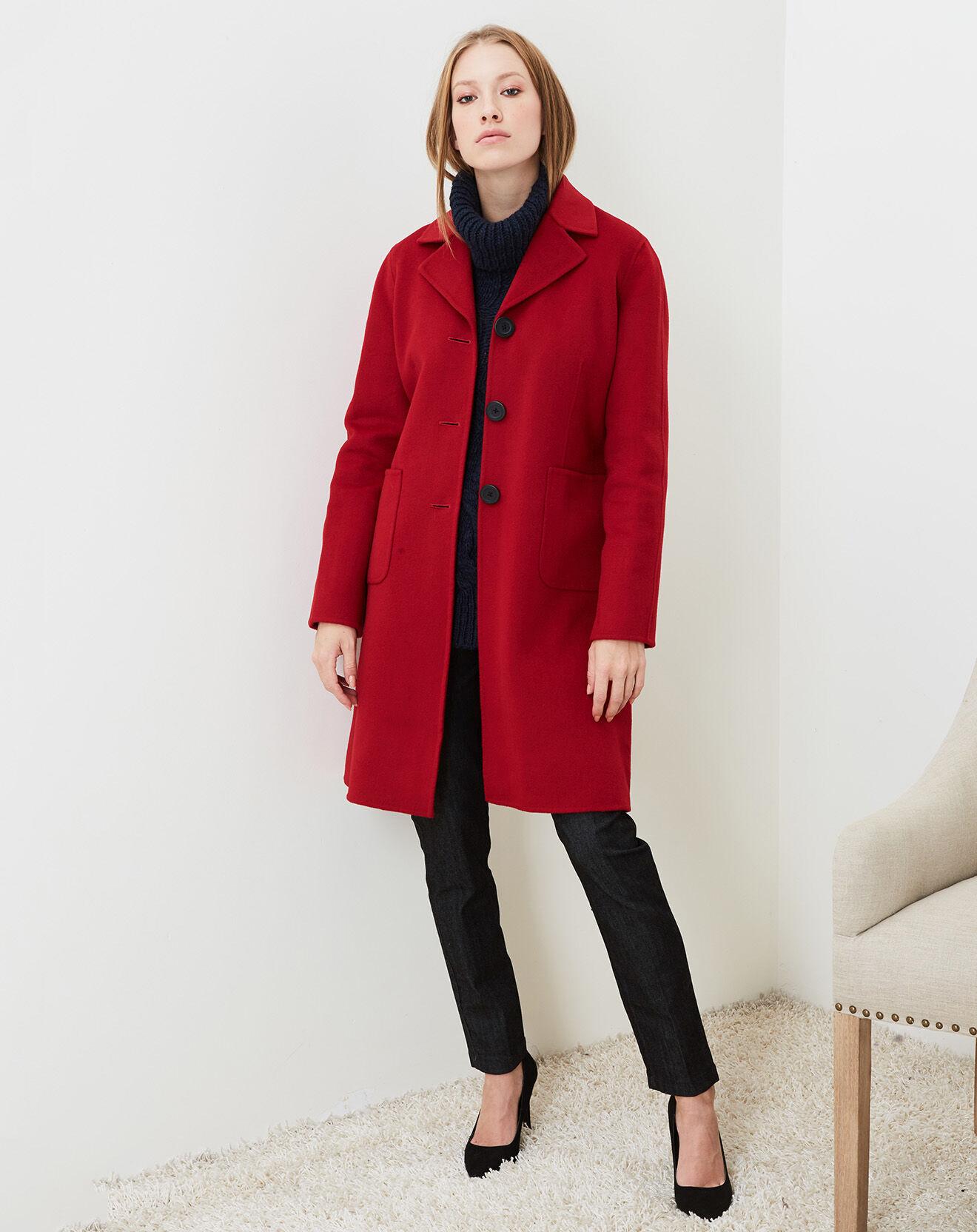 Cacharel-femme-manteau ceinturé en laine &...