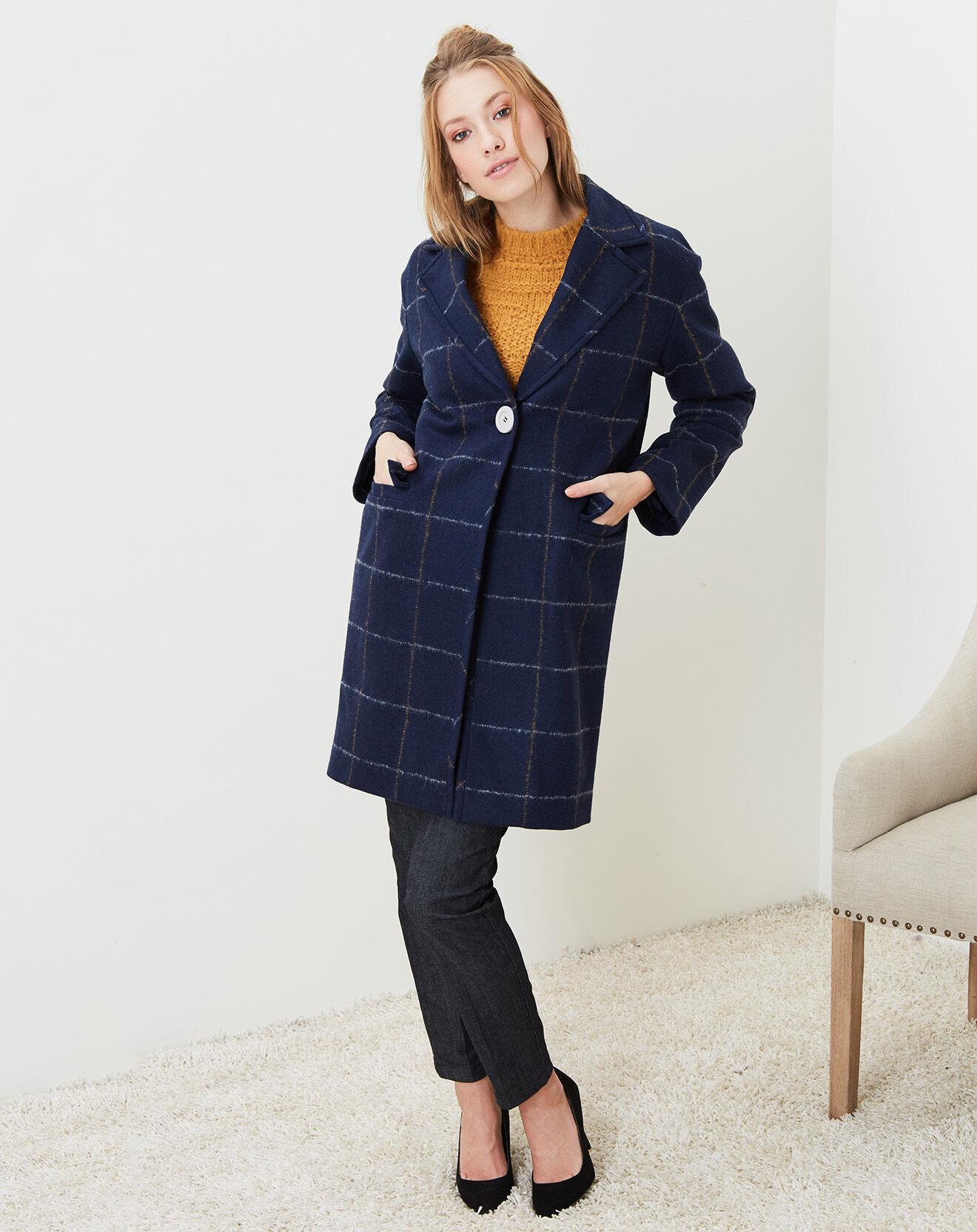Cacharel-femme-manteau oversize en laine...