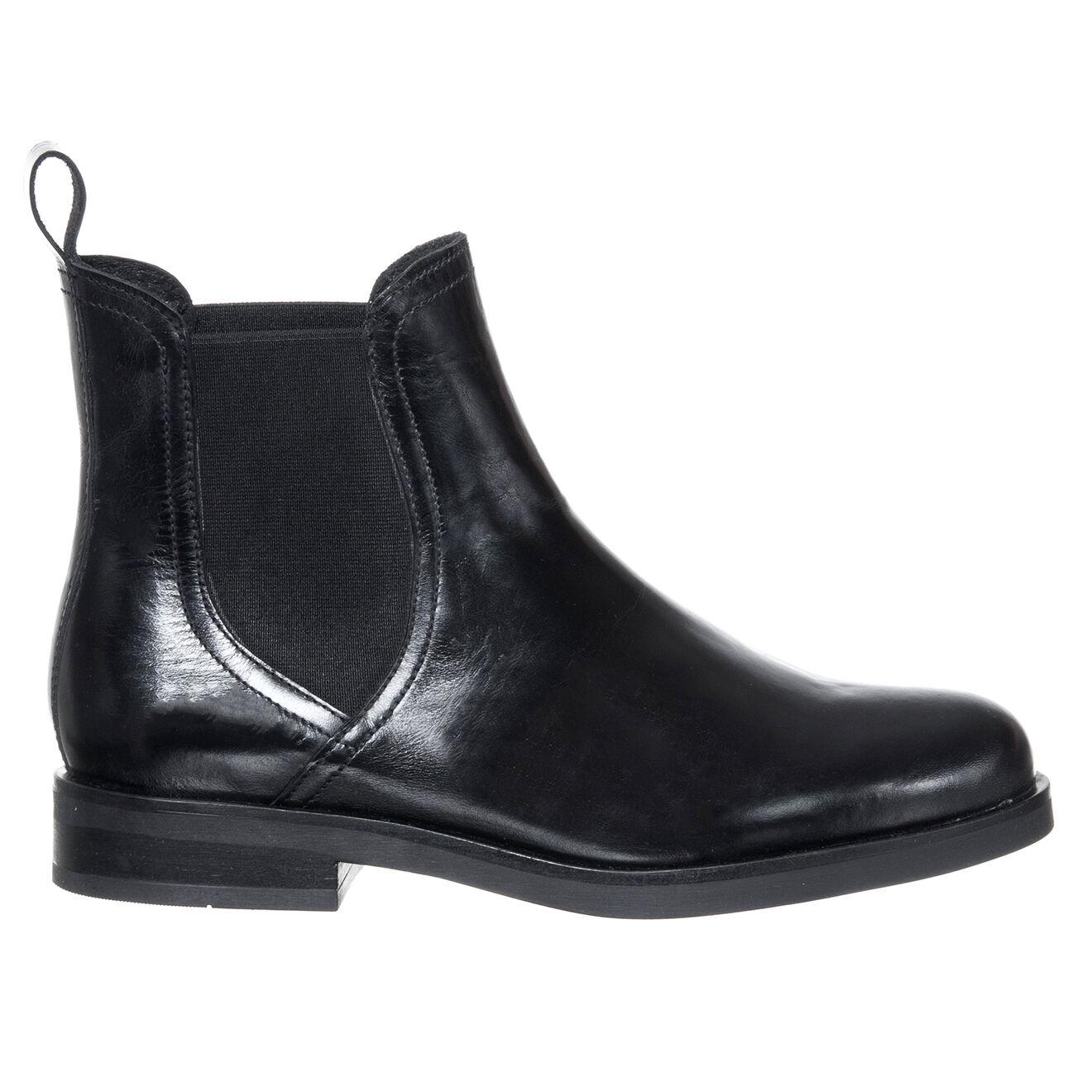 Chelsea Boots en Cuir Clemence noires - Loretta by Loretta - Modalova