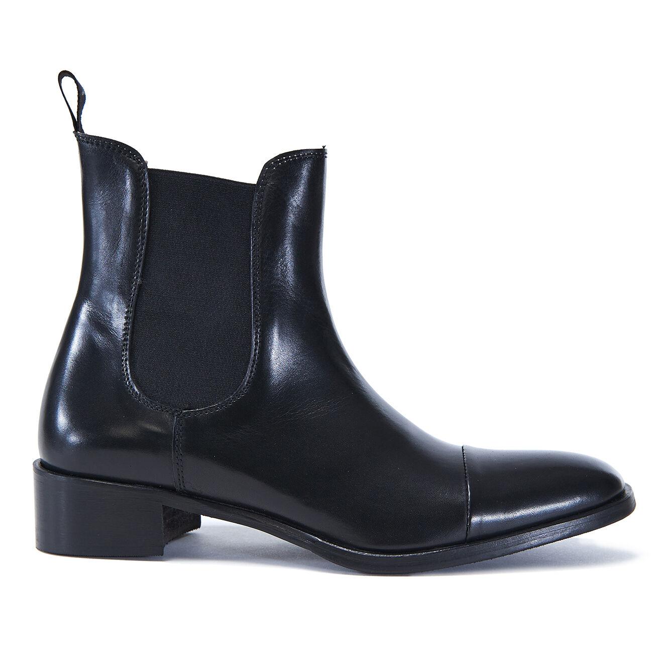 Chelsea Boots en Cuir Elsa noires
