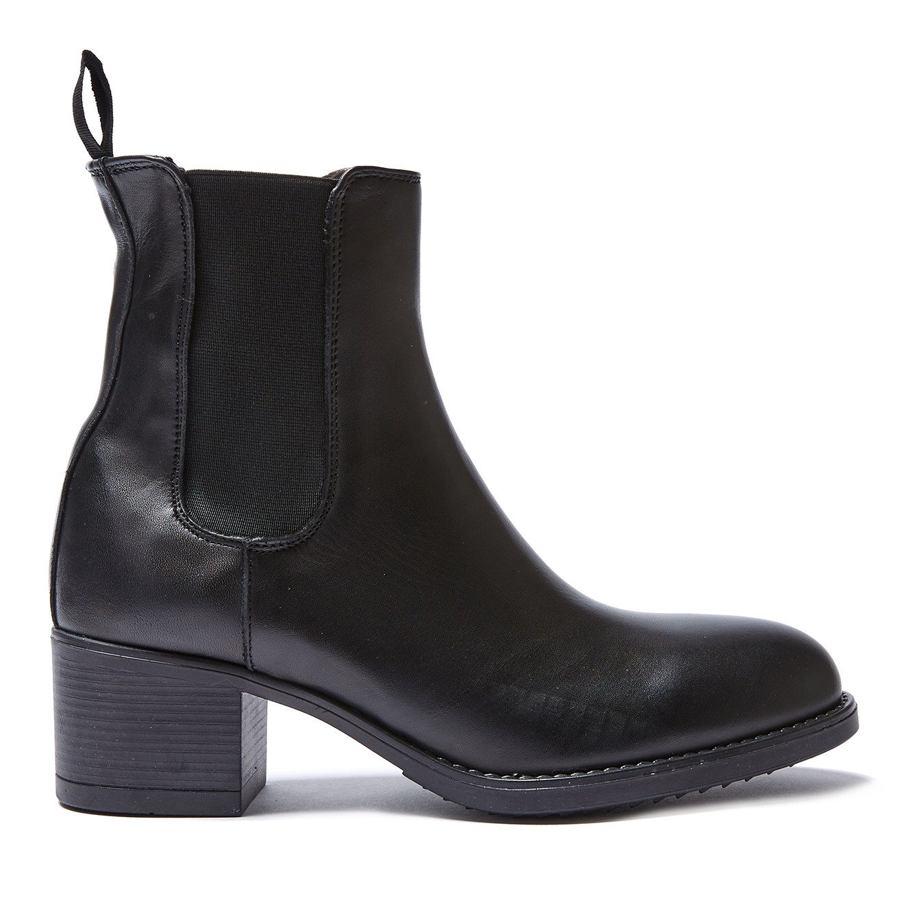 Chelsea Boots en Cuir Emmanuelle noires - Talon 5 cm