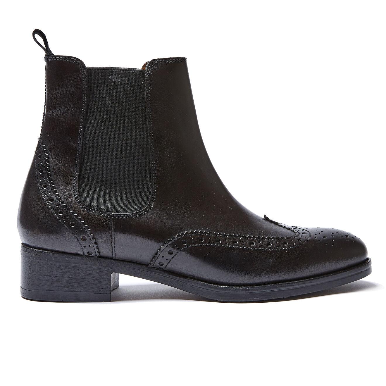 Chelsea Boots en Cuir Fiona noires
