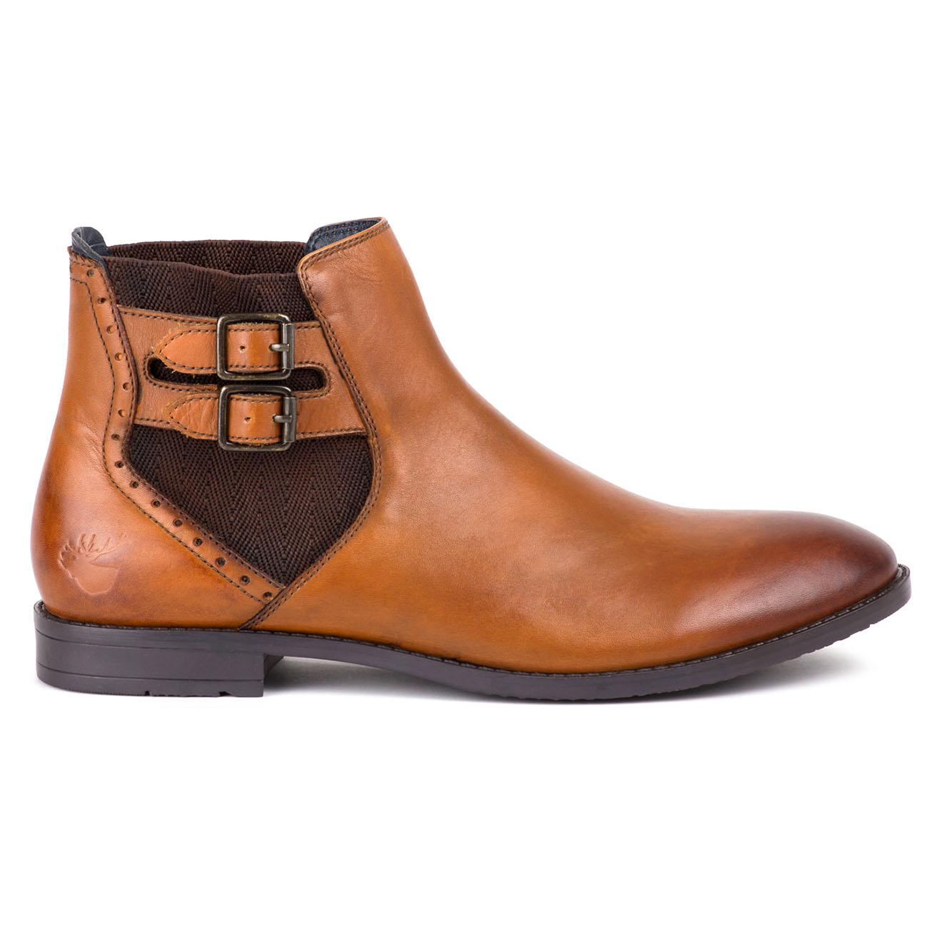 Chelsea Boots en Cuir Delph camel