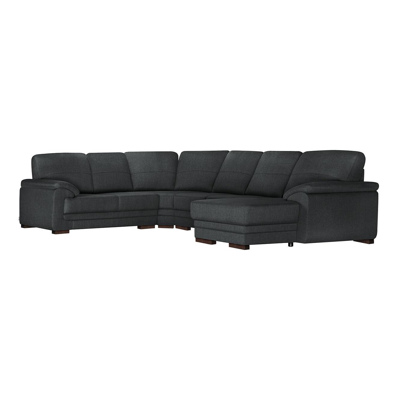 Canapé panoramique d'angle droit convertible Casavola anthracite - 257x362x90 cm