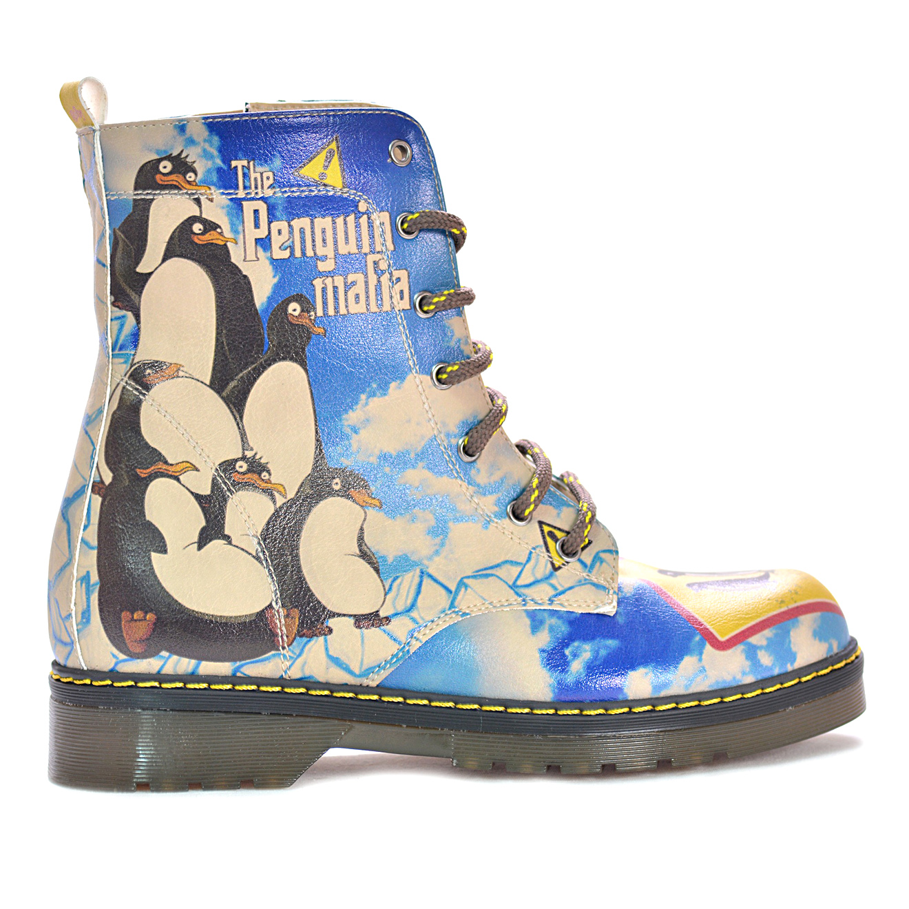 Boots Road bleu/multicolore