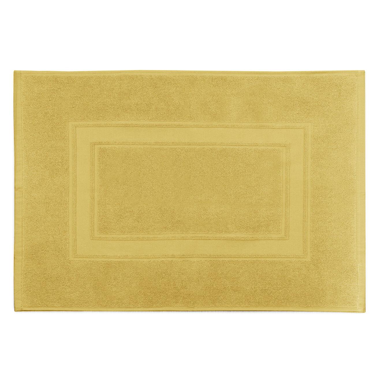 Tapis de bain Elisa jaune soleil - 50x70 cm