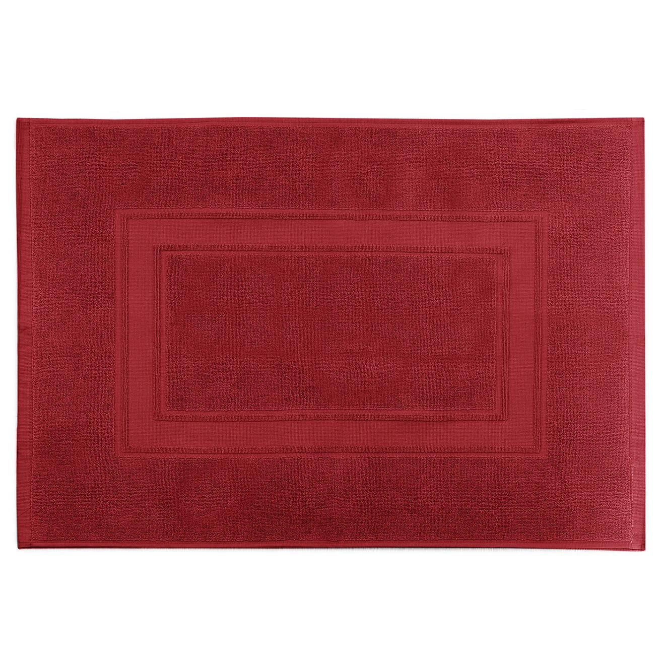 Tapis de bain Elisa rouge - 50x70 cm