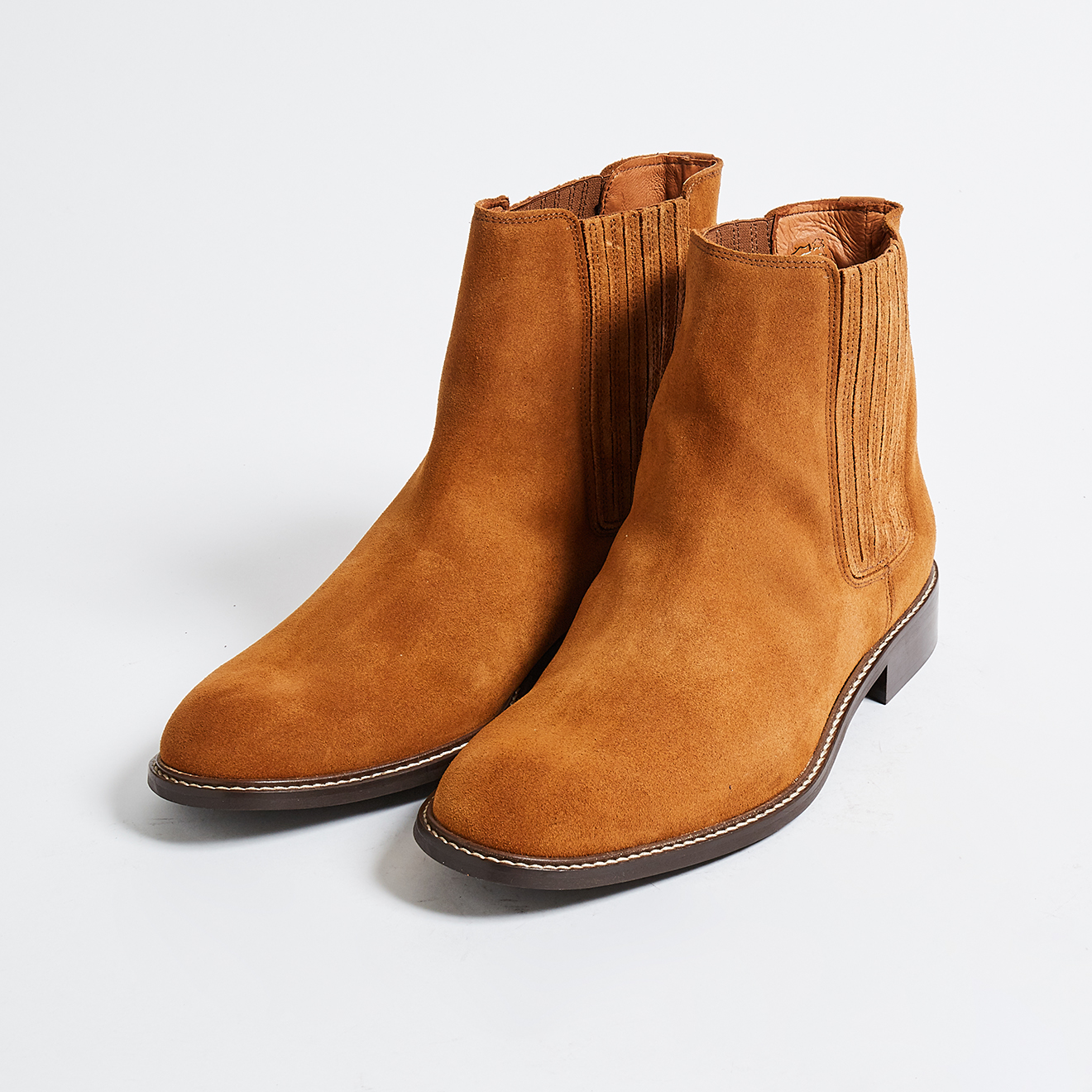 Chelsea Boots Martin en Velours de Cuir cognacs - Klom - Modalova