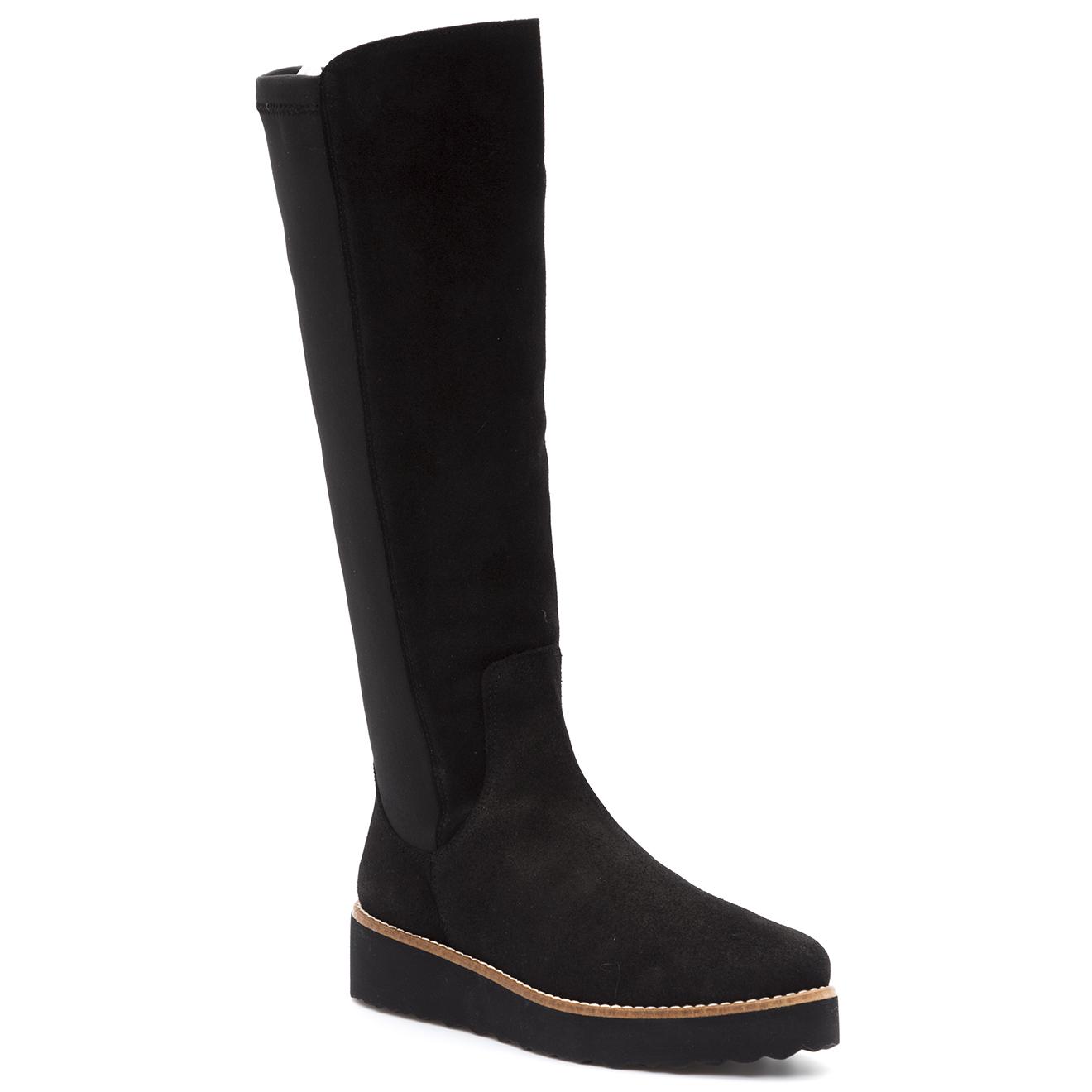 Vienty-femme-bottes en velours de cuir presley...