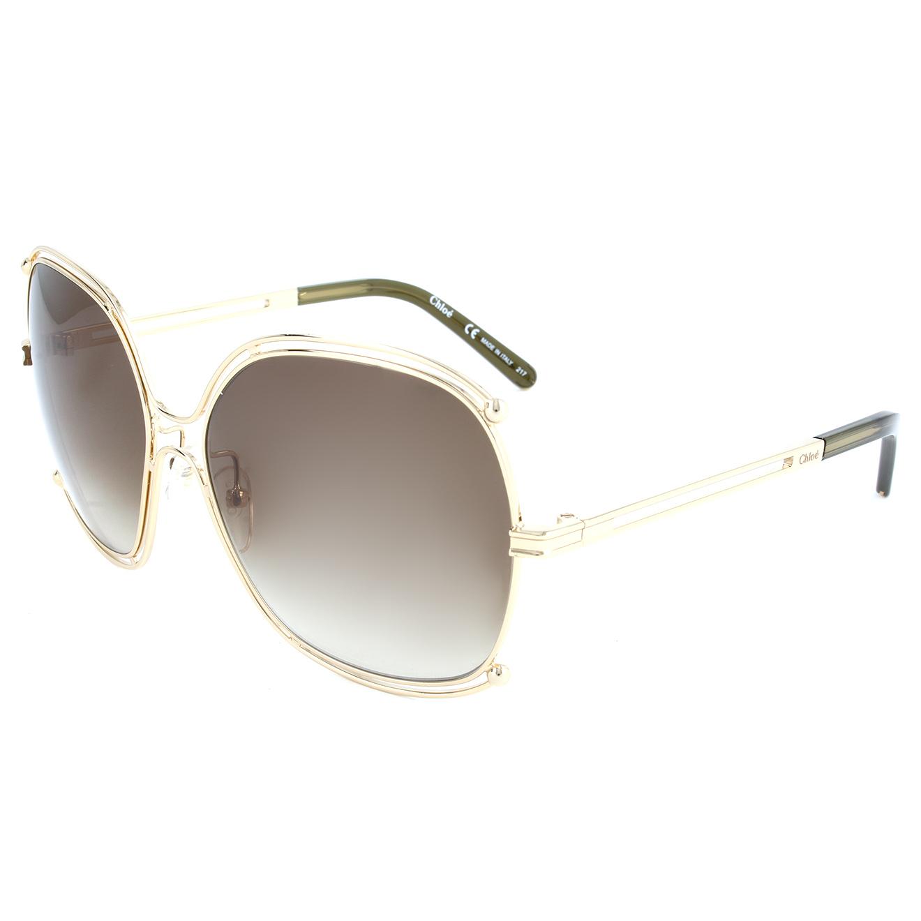 Chloé-femme-lunettes de soleil femme or/kaki-t.u