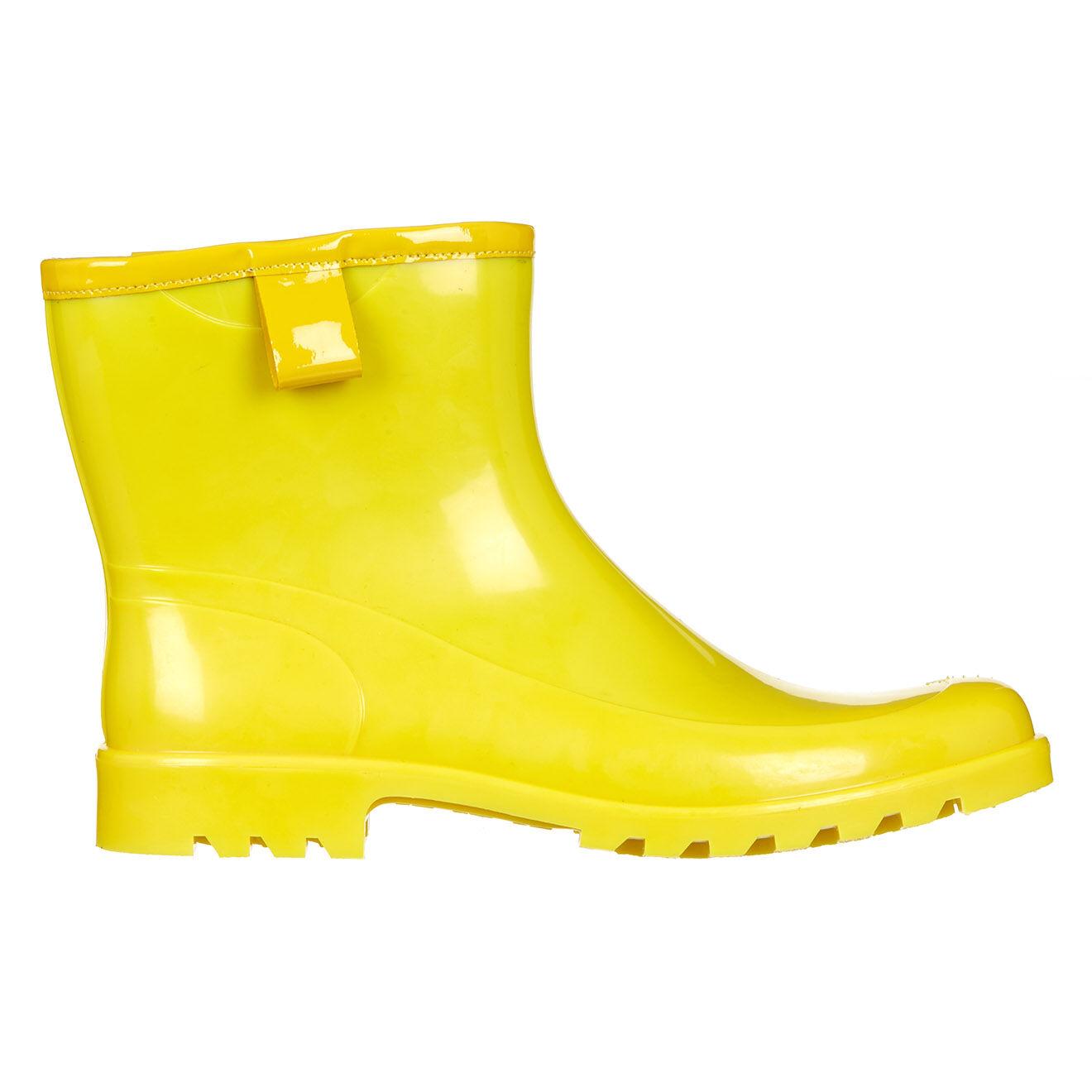 Bottines de pluie jaunes - Talons 3 cm