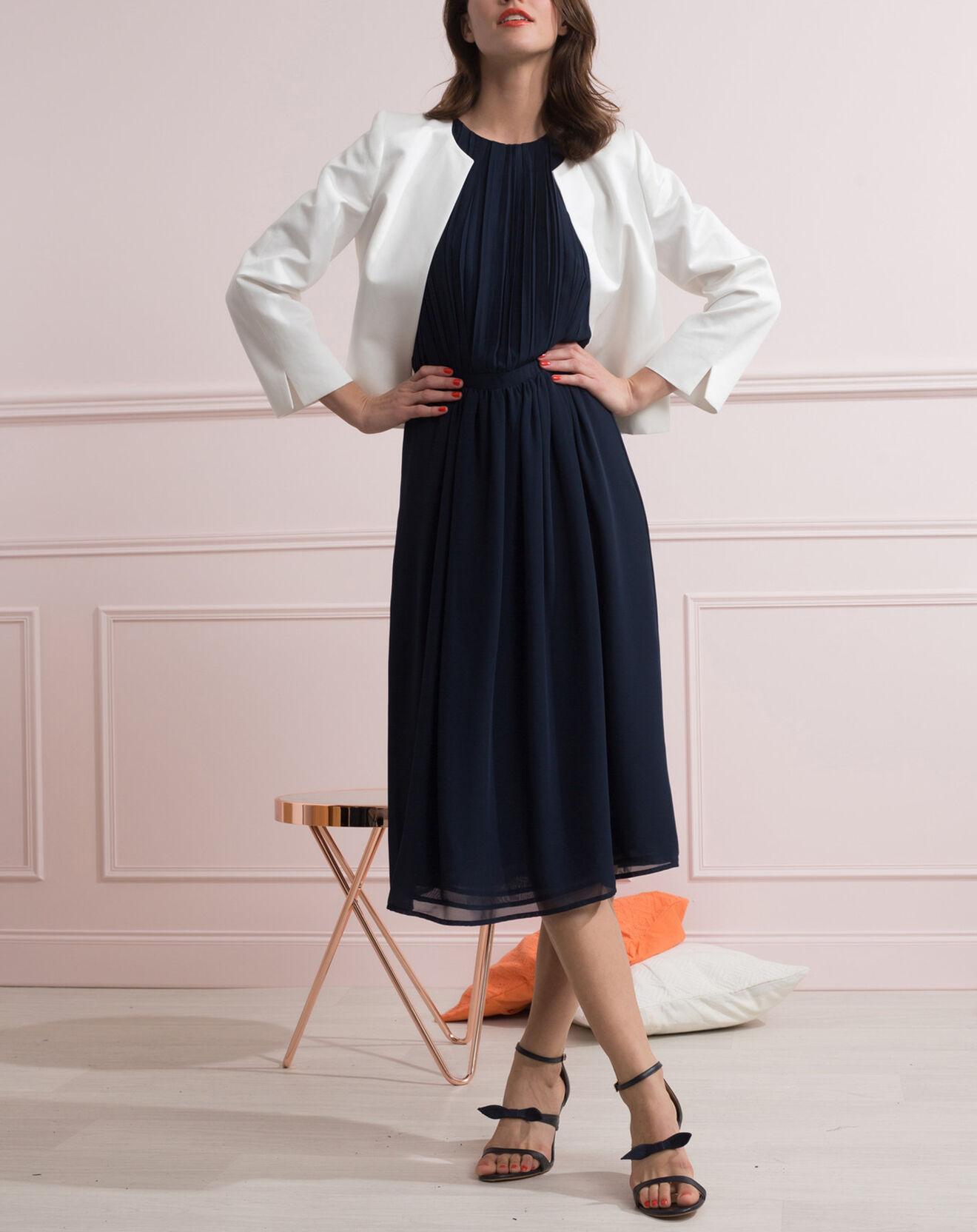 Veste courte Elisa en Coton & Lin ivoire - Caroll - Modalova