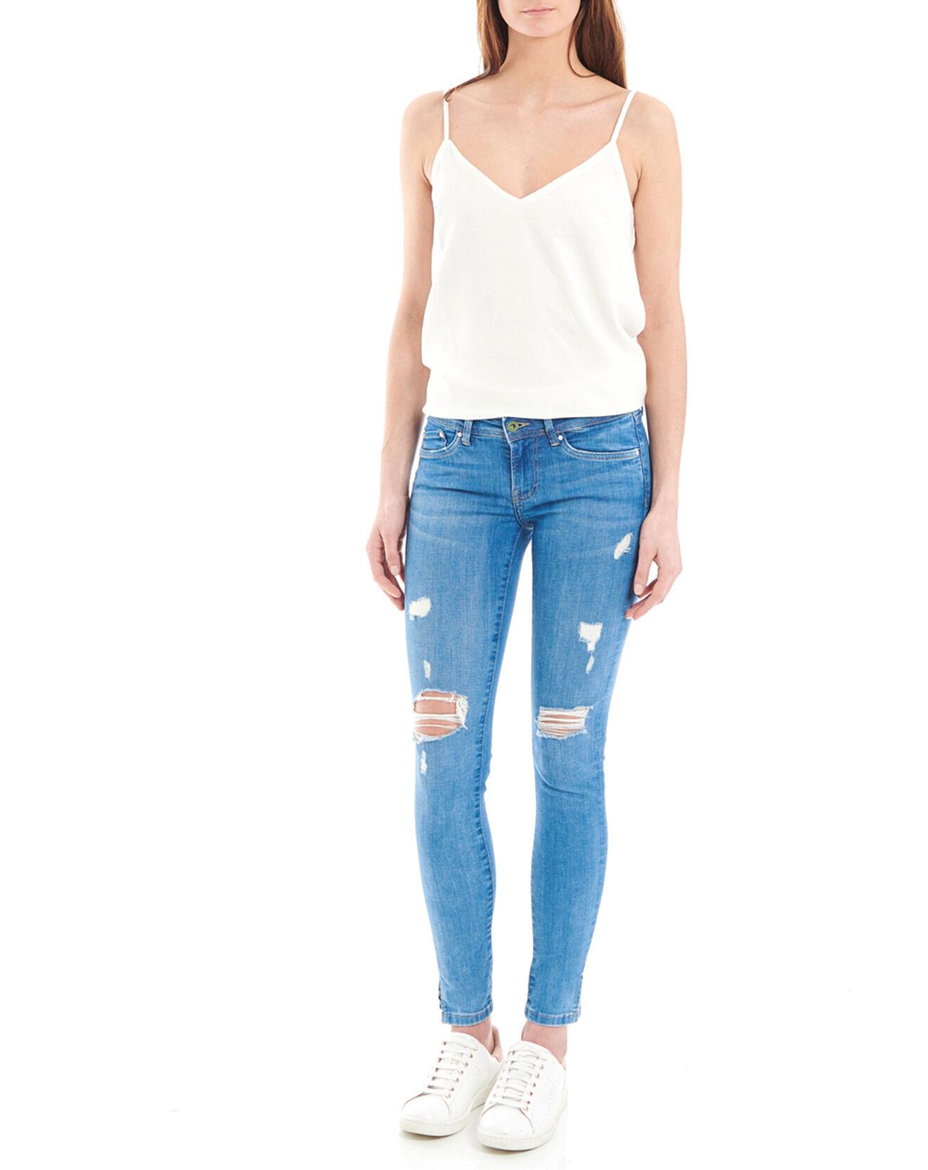 Jean skinny Pixie Destroy Eco bleu - Pepe Jeans - Modalova