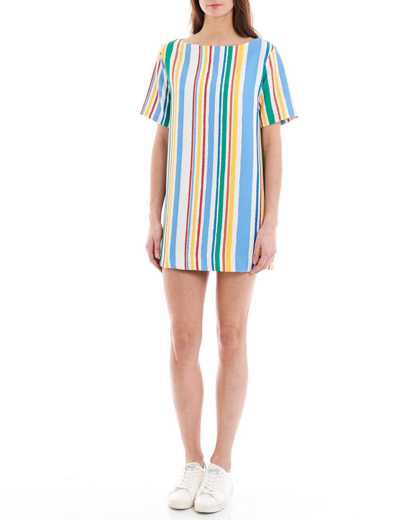 Robe Domi rayée multicolore - Pepe Jeans - Modalova