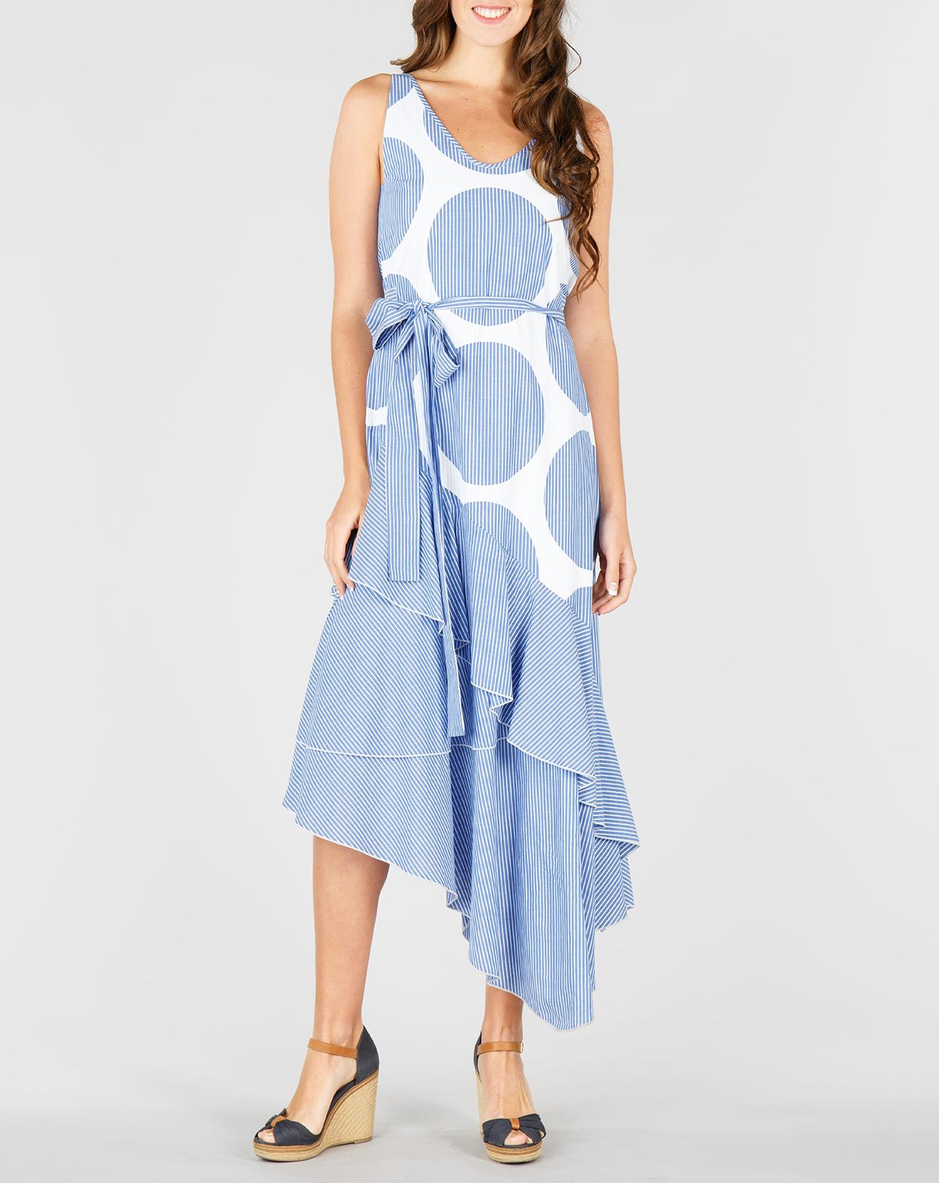 Robe Algebre asymétrique bleu pétrole - Derhy - Modalova