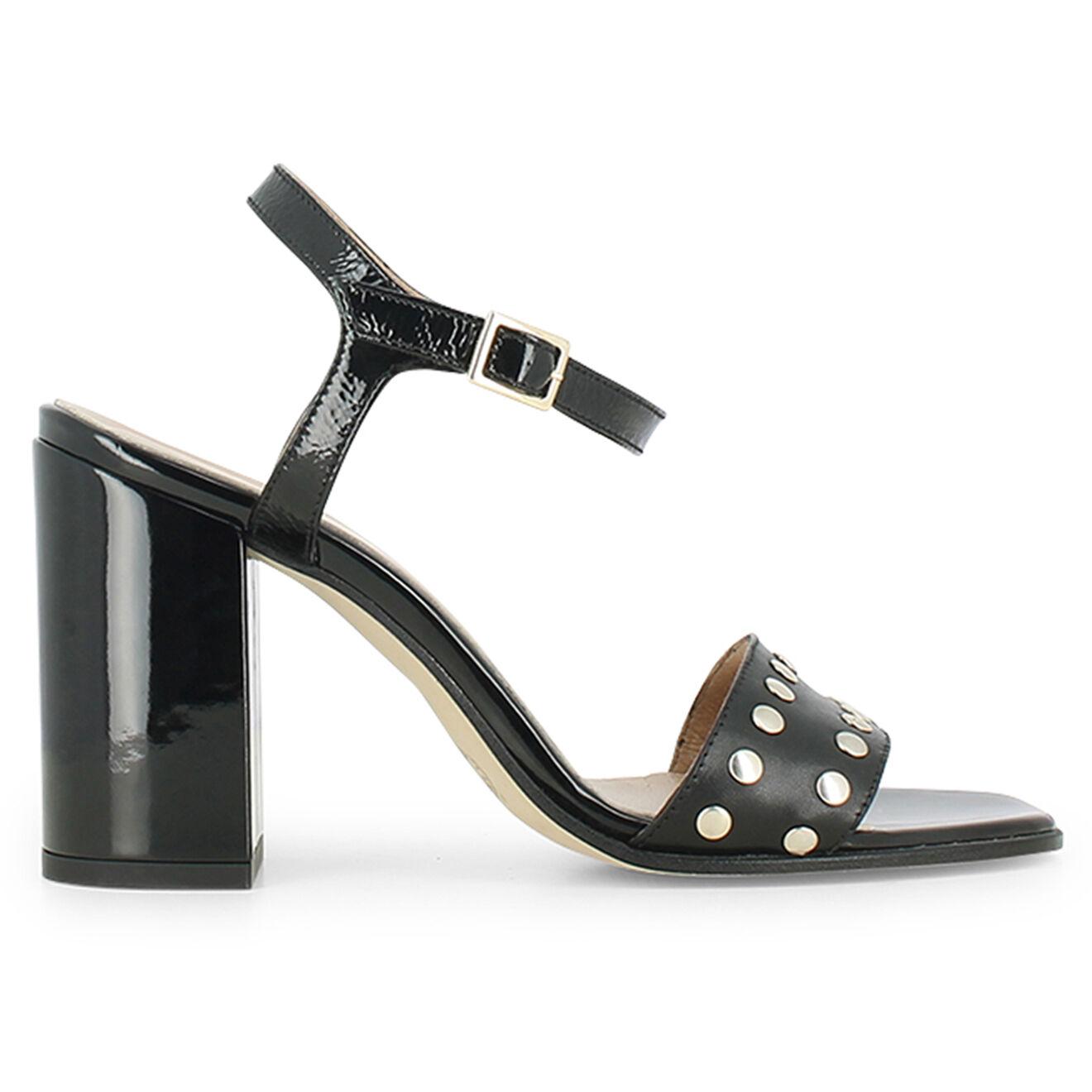Sandales en Cuir Moris noires - Talon 8.5 cm - Jonak - Modalova
