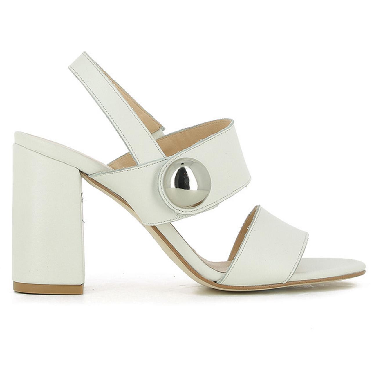 Sandales en Cuir Derika écrues - Talon 10 cm - Jonak - Modalova
