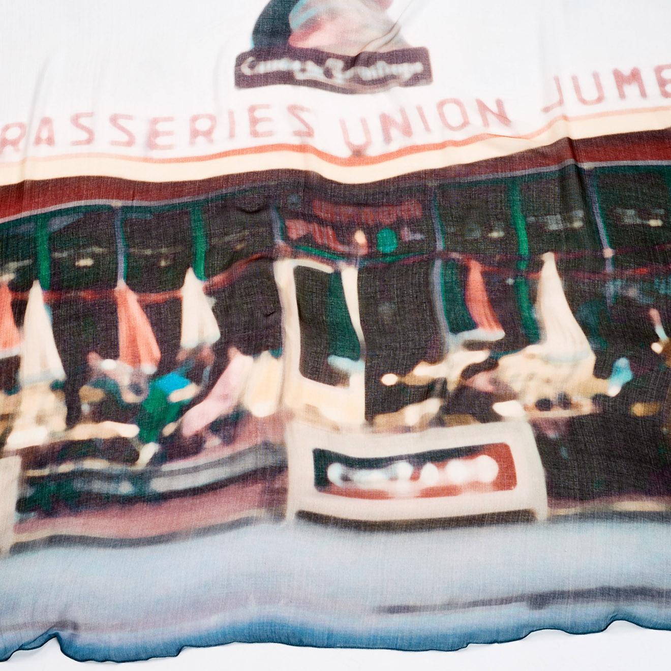 Foulard Janine imprimé multicolore 140x140 cm