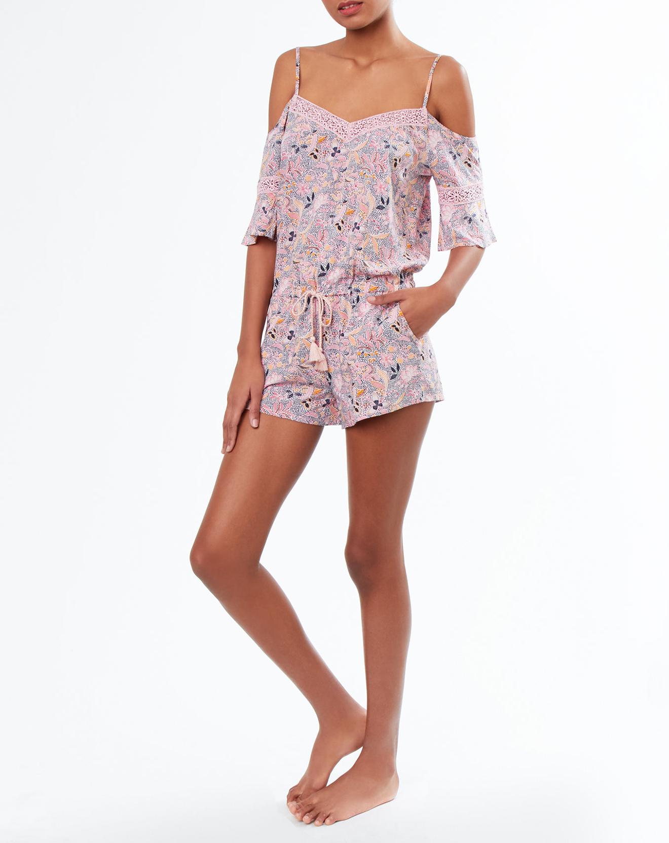 Combishort pyjama Fiesta imprimée - Etam - Modalova