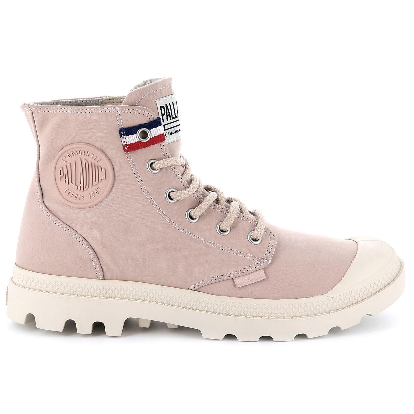 Boots montantes en Toile Pampa Hi rose clair - Palladium - Modalova