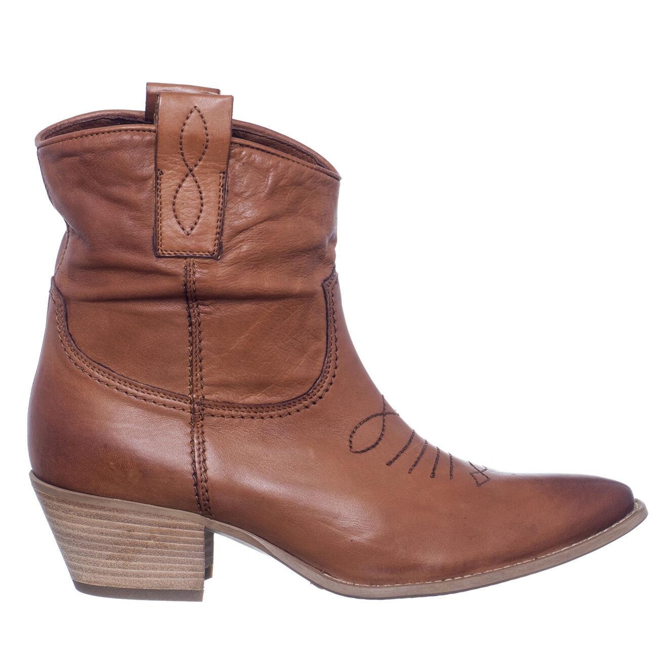 Boots en Cuir Faustine camel - Talon 5 cm