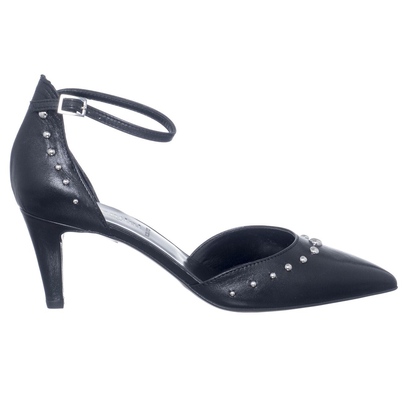 Escarpins en Cuir Diana noirs - Talon 7 cm