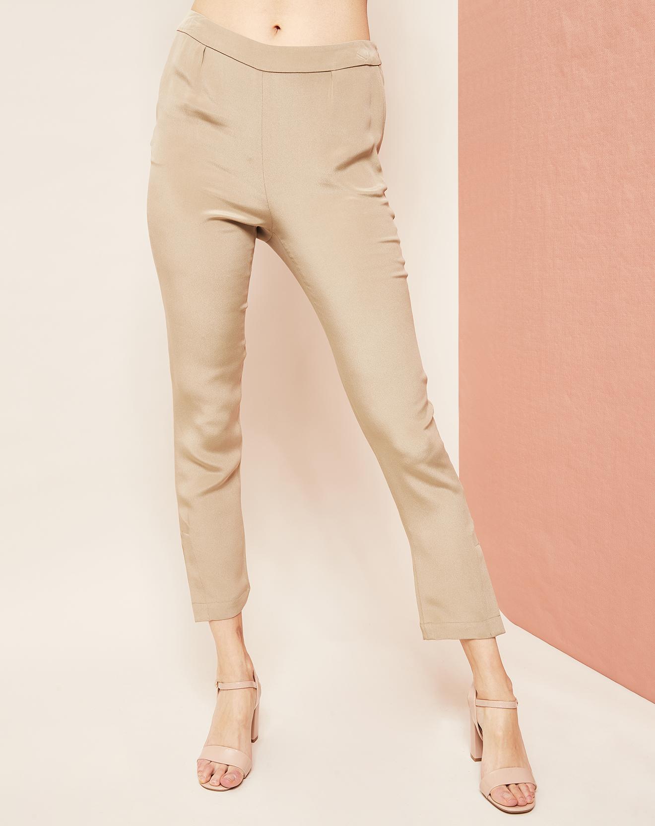 Pantalon 7/8 100% Soie crème - Hotel Particulier - Modalova