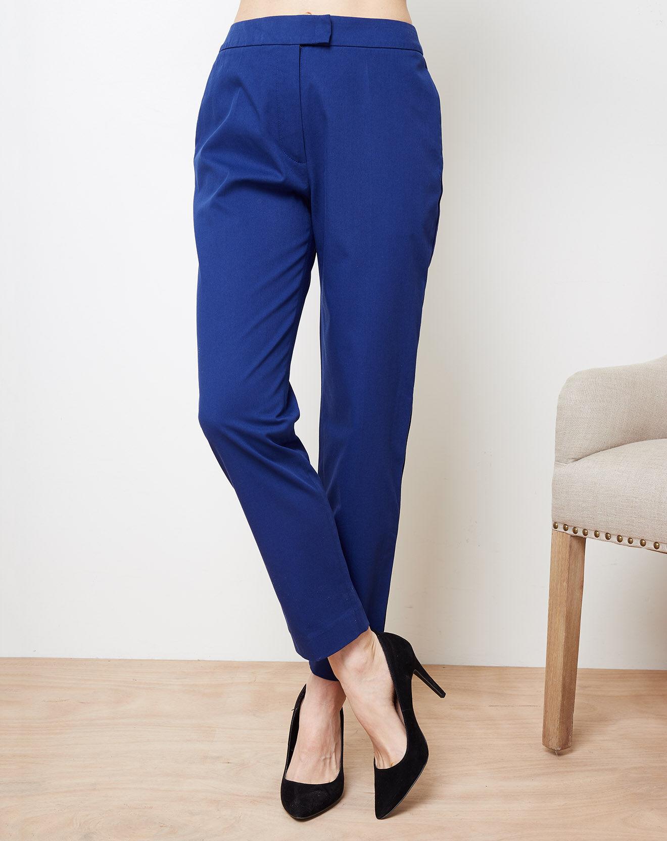 Pantalon cigarette bleu marine - Cacharel - Modalova
