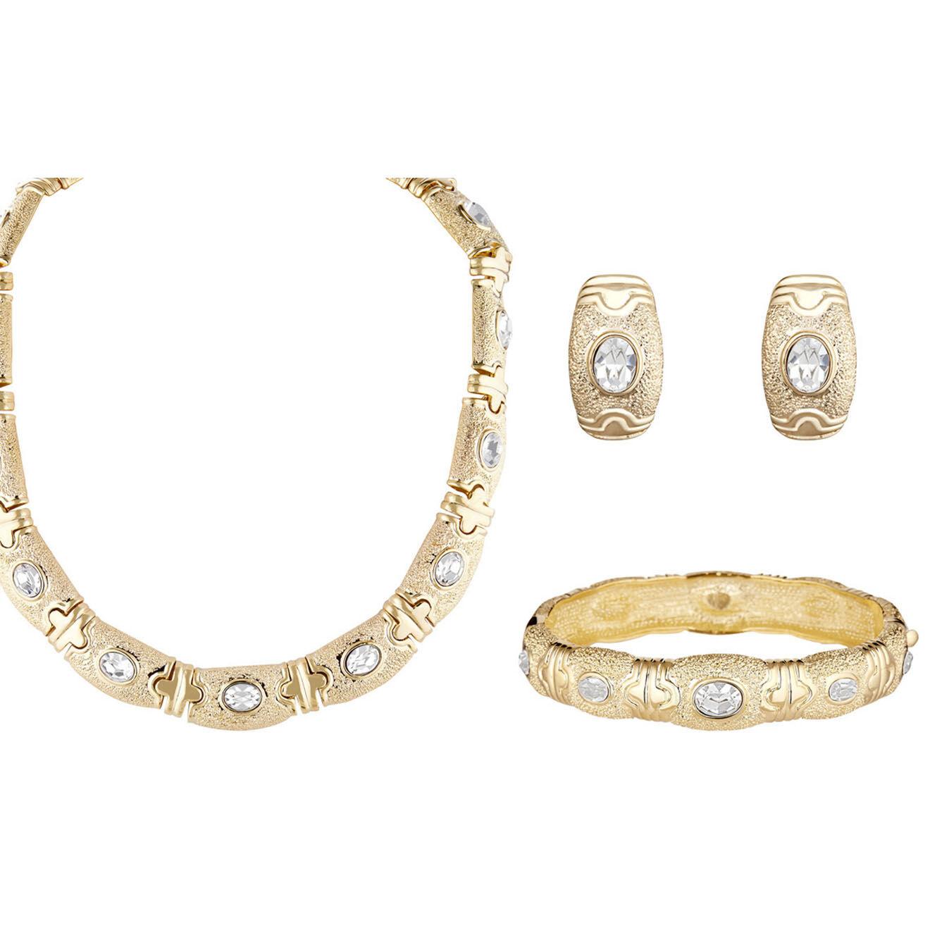 Parure Collier, Bracelet & Boucles d'oreilles Margot dorée - La Chiquita - Modalova