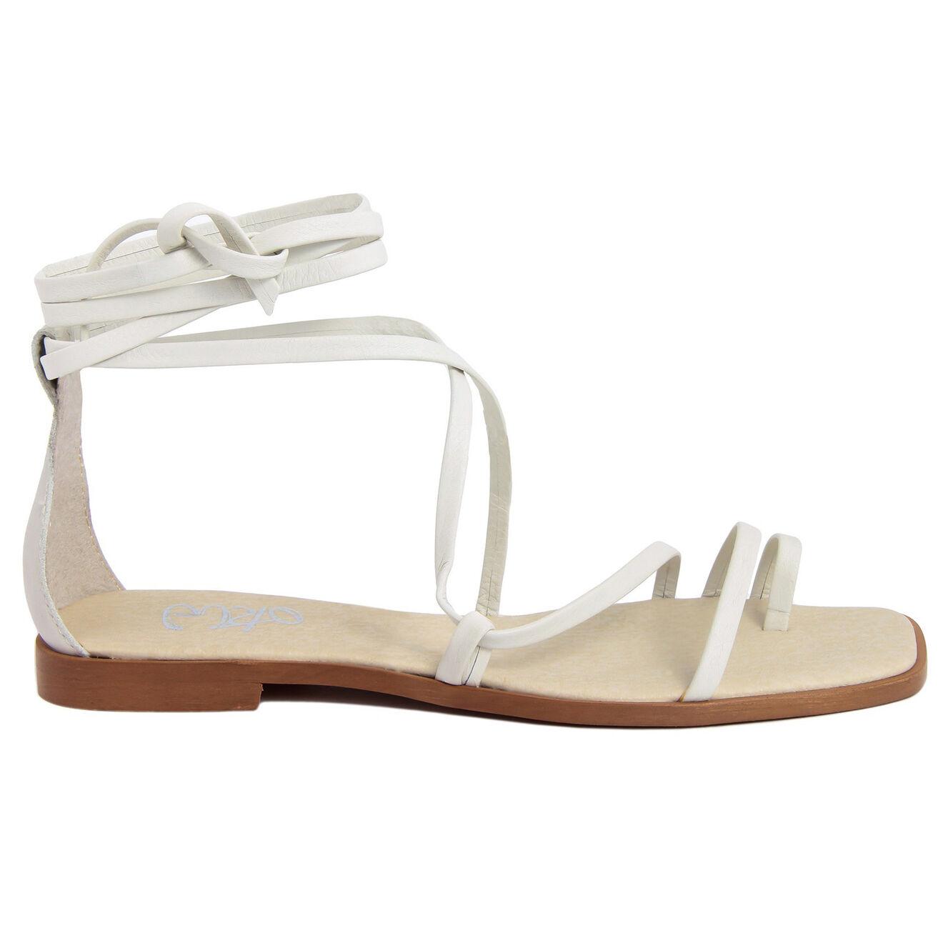 Sandales en Cuir Luisa blanches